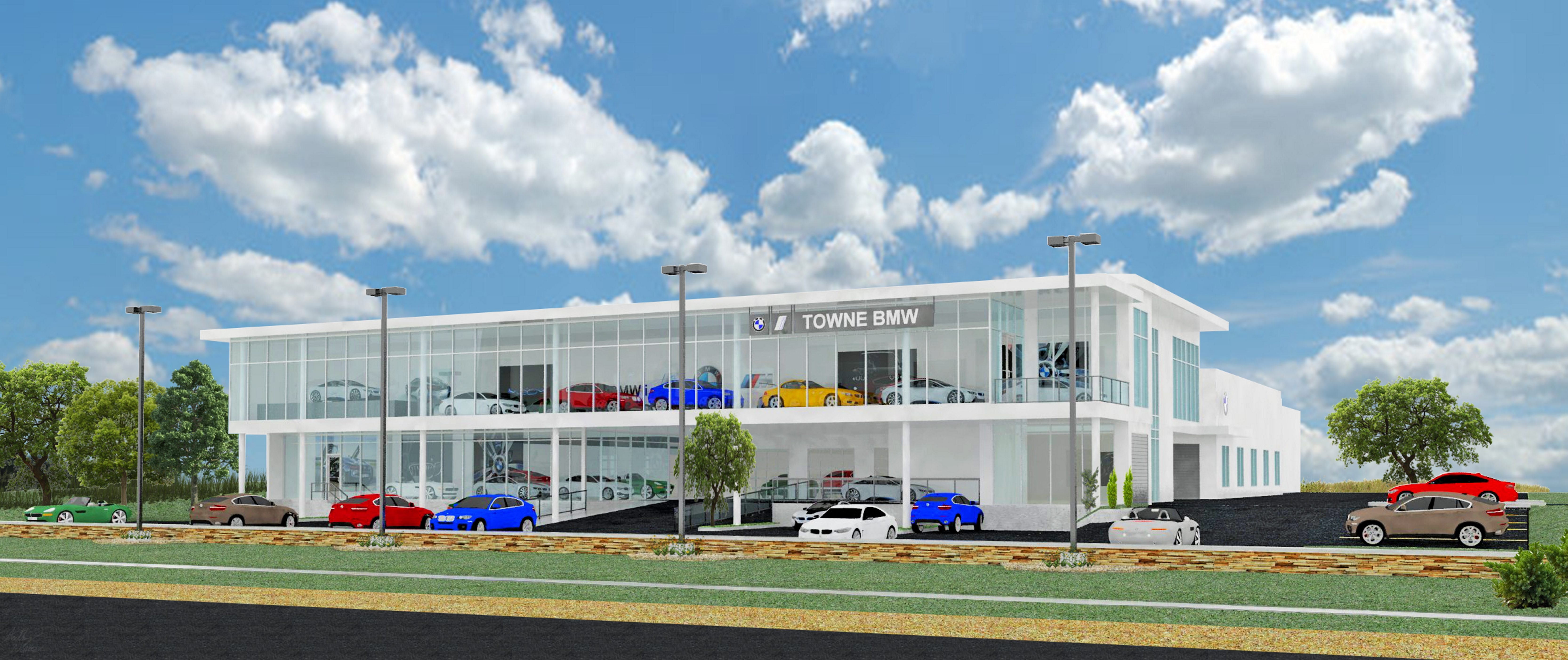 Towne BMW is building a two-story showroom in Clarence, where it will move its motorcycle showroom when completed. Until then, Towne will sell motorcycles in its used-car showroom.