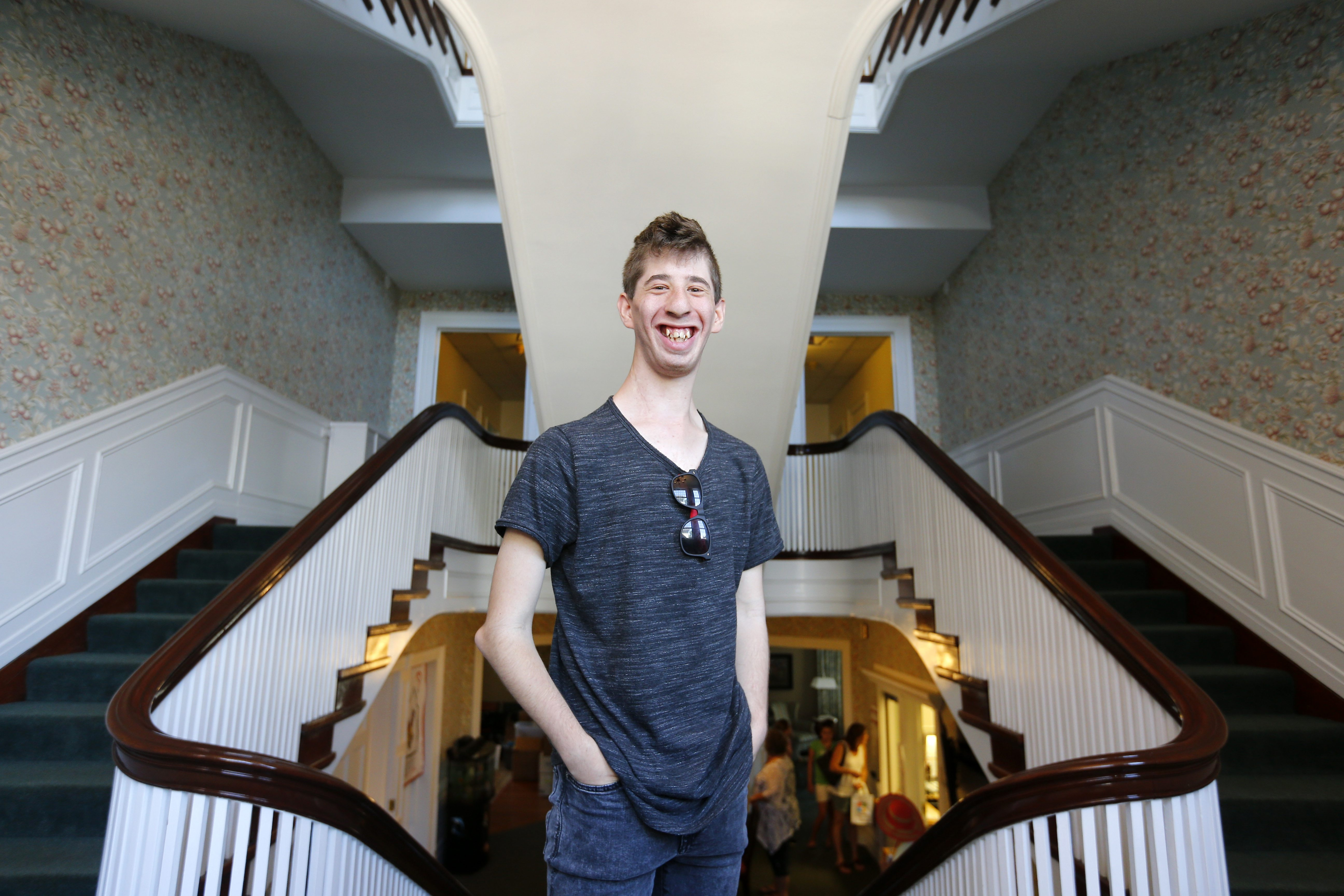 Evan Kentile, now 21, shown Wednesday at Ronald McDonald House, will shoot the starting pistol for the residence's 15th annual 5K race.
