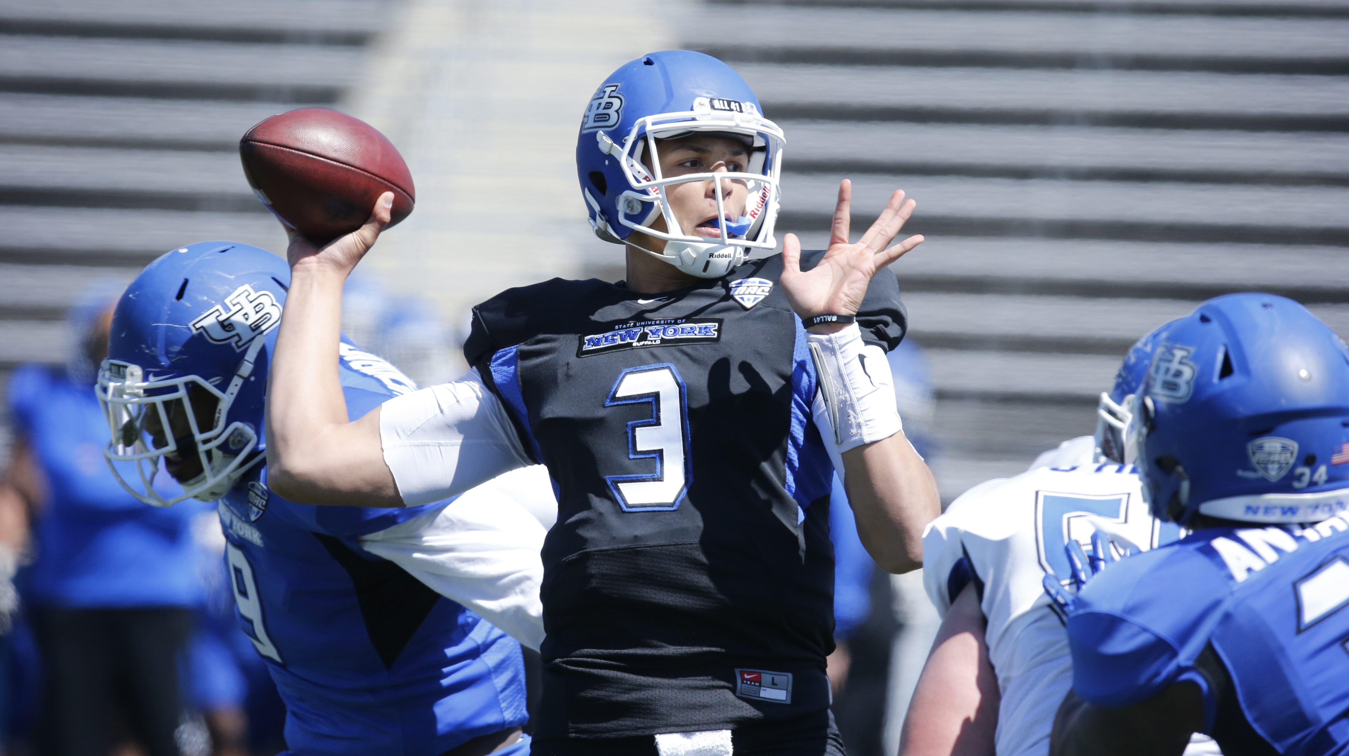 One of the big questions about UB's football team this season is whether Tyree Jackson is ready to take over as starting quarterback.