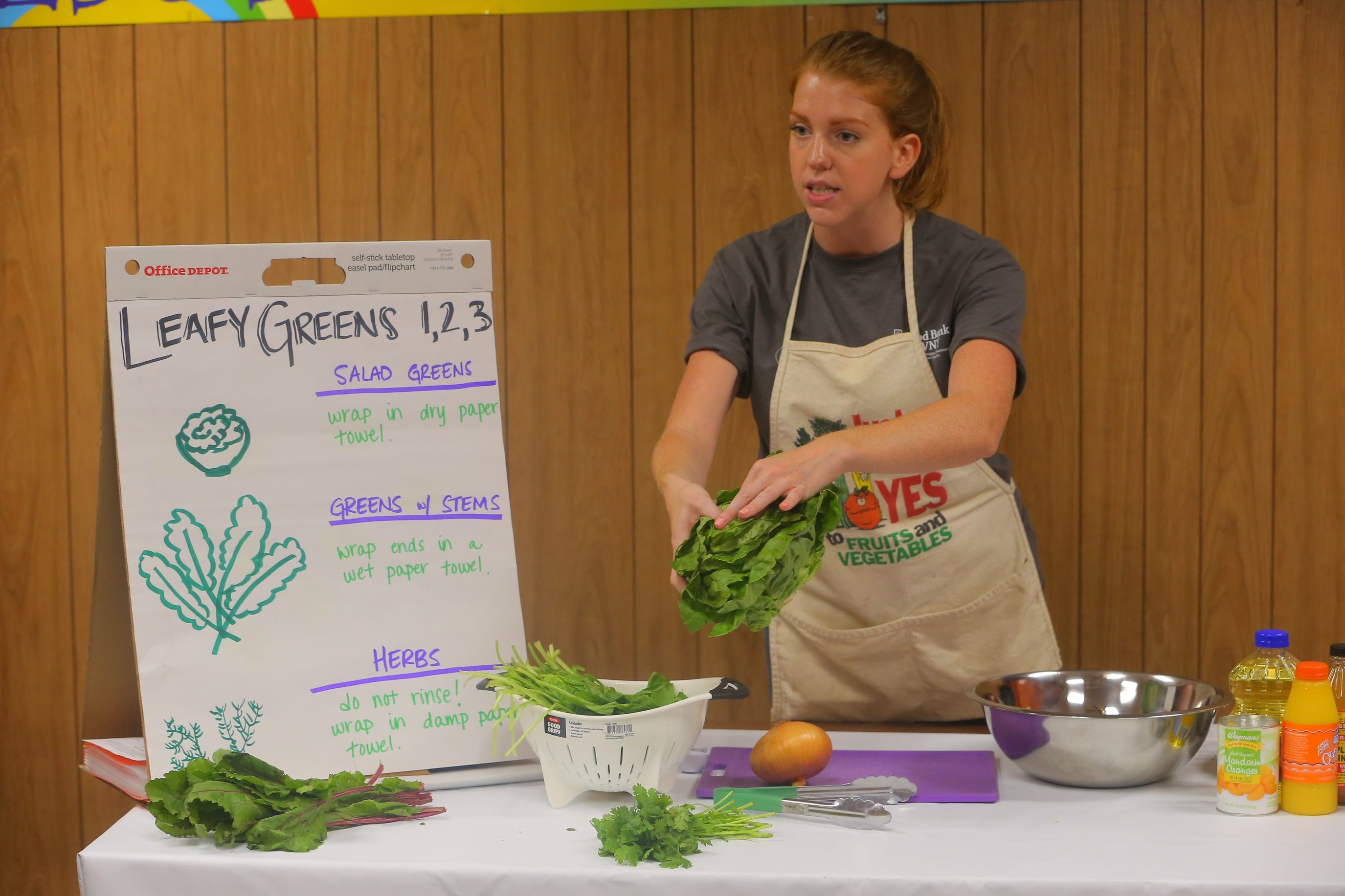 """Cooking at home is one of the most important things people can do to save money and make sure you're eating healthy."" – Elyse Burgher, Just Say Yes to Fruits and Vegetables nutritionist with the Food Bank of WNY, on helping low-income people make the most of their food budgets"
