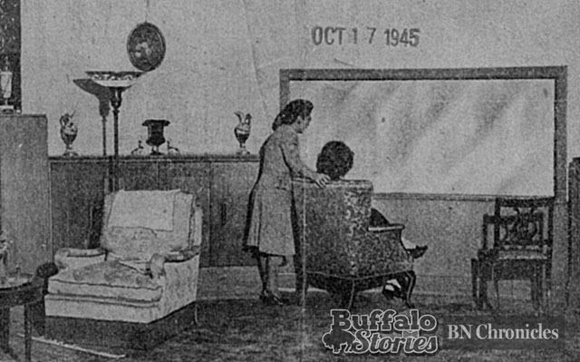 It might not seem like much now, but was something spectacular in the days before television. Apartment lights dimmed automatically when the living room curtain opened to the movie screen. m