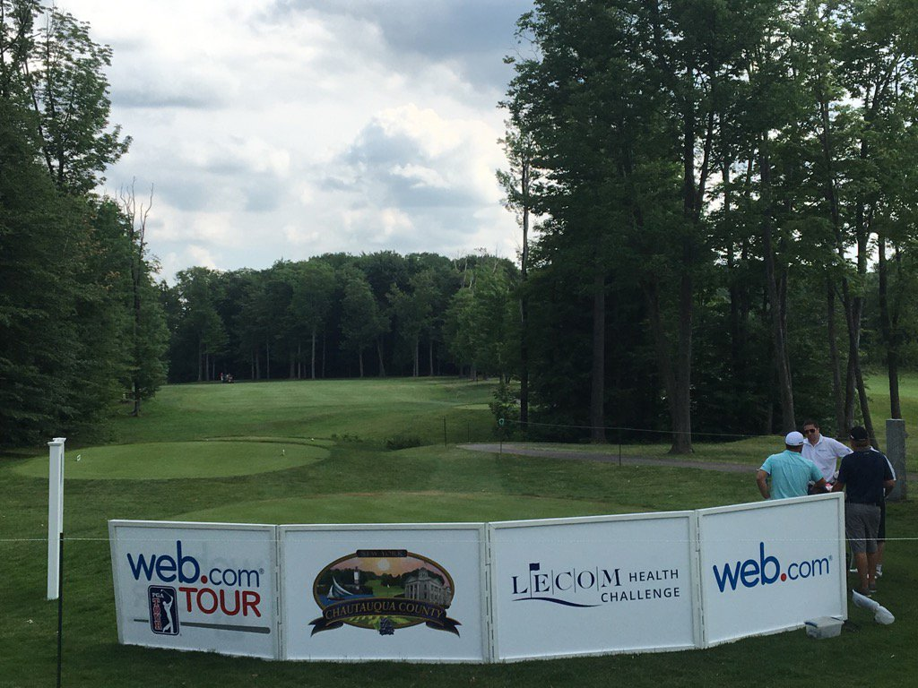 The par-4 10th hole at Peek'N Peak. (@webdotcomtour photo)