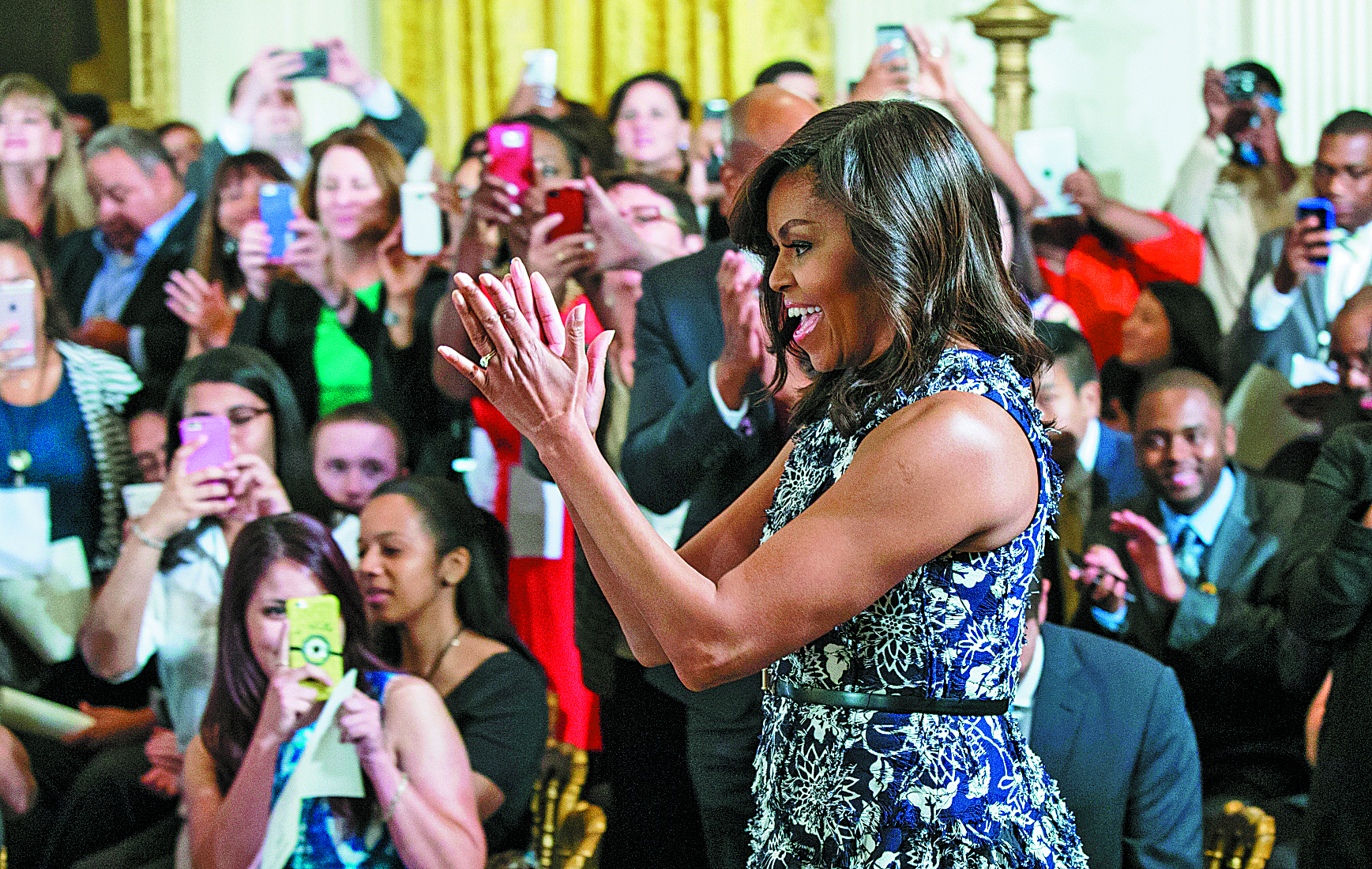 First lady Michelle Obama will be Monday's keynote Democratic convention speaker. (Al Drago/The New York Times)