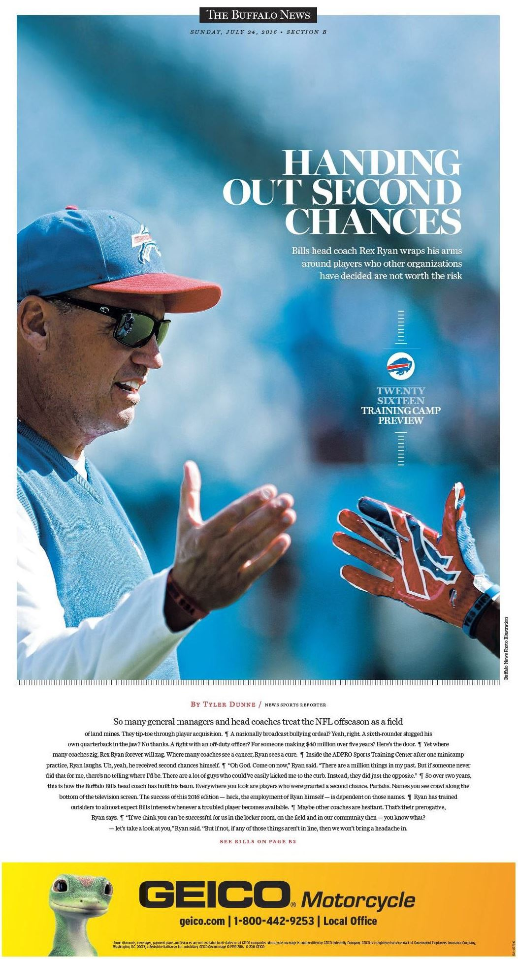 The cover of our special preview section on Sunday, July 24.