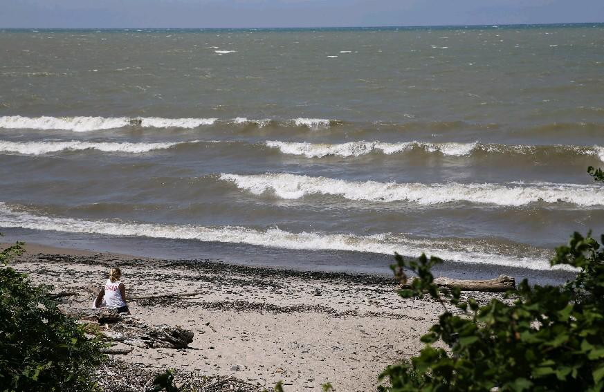 Northerly winds are forecast to push Lake Ontario's higher than normal waters onto its southern shorelines and create hazardous swimming conditions on Lake Erie in Chautauqua County. (Buffalo News file photo)