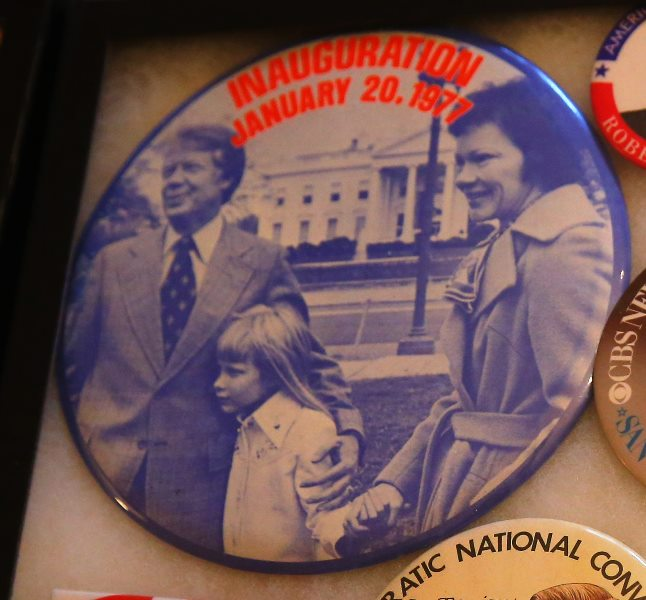 This Jimmy Carter button is valuable because Carter stopped allowing photos of daughter Amy after this photo was taken.