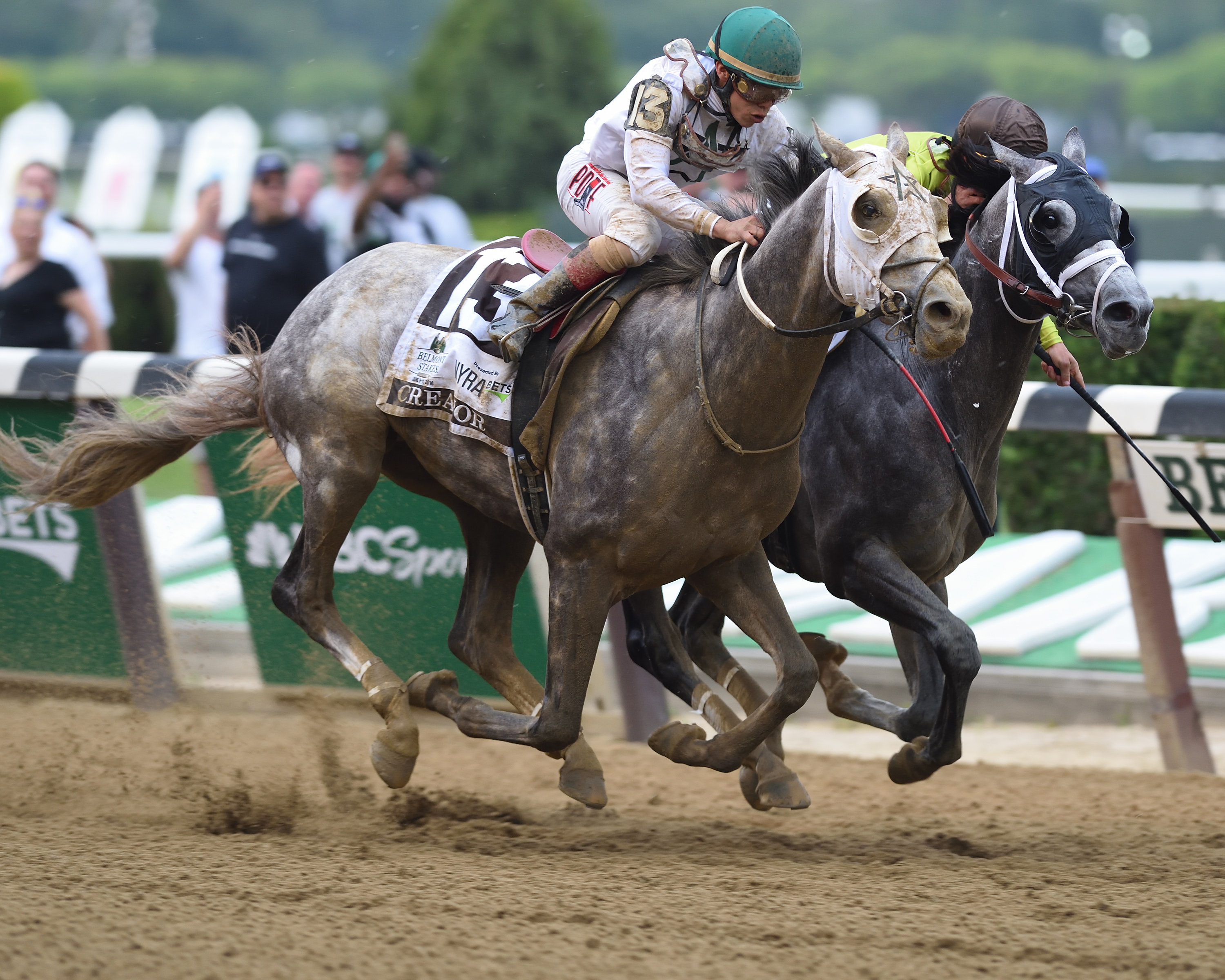 Creator holds off Destin in the Belmont Stakes Photo Credit: NYRA