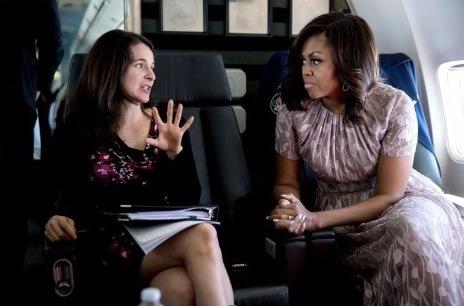 Sarah Hurwitz with Michelle Obama. (Washington Post)