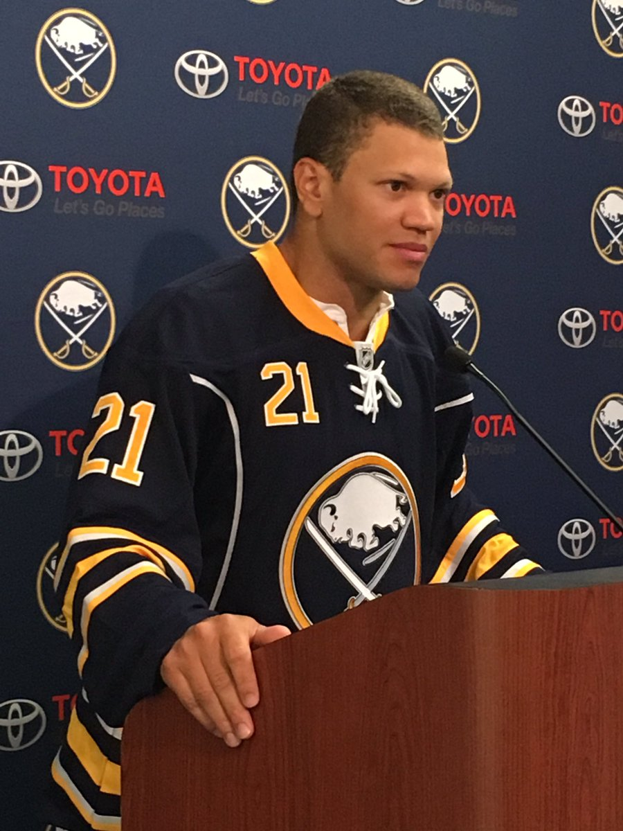 Depression and thoughs of suicide 'can be a difficult conversation to have but it's a very important dialogue,' Kyle Okposo says. (Harry Scull Jr./Buffalo News)