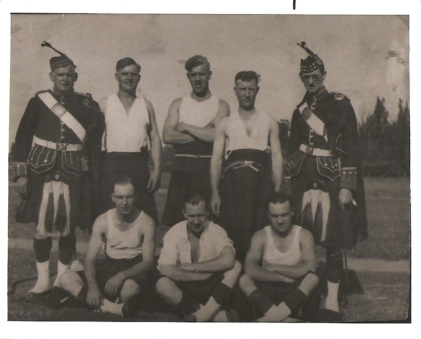 A gathering of Scottish immigrants, Buffalo, probably the 1930s: Donald MacLeod, my uncle, lower right. Jonathan Murray, my great-uncle and a captain with the Gordon Highlanders, upper left, which means it may have been a Highlanders event.(Image courtesy of Scott MacLeod)