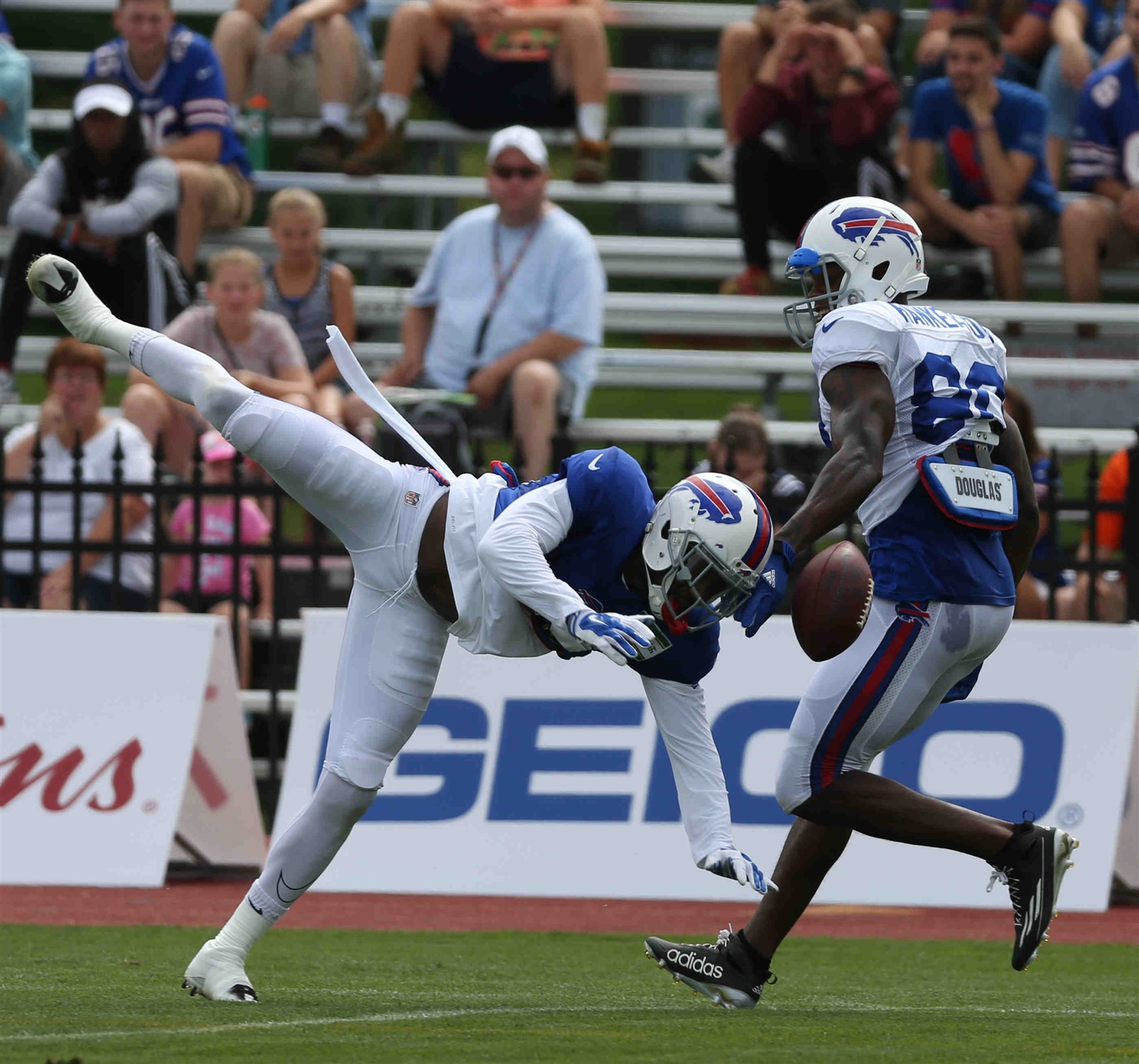Buffalo Bills cornerback Rookie cornerback Kevon Seymour has been impressive in training camp and the first preseason game for the Buffalo Bills. (James P. McCoy/ Buffalo News)