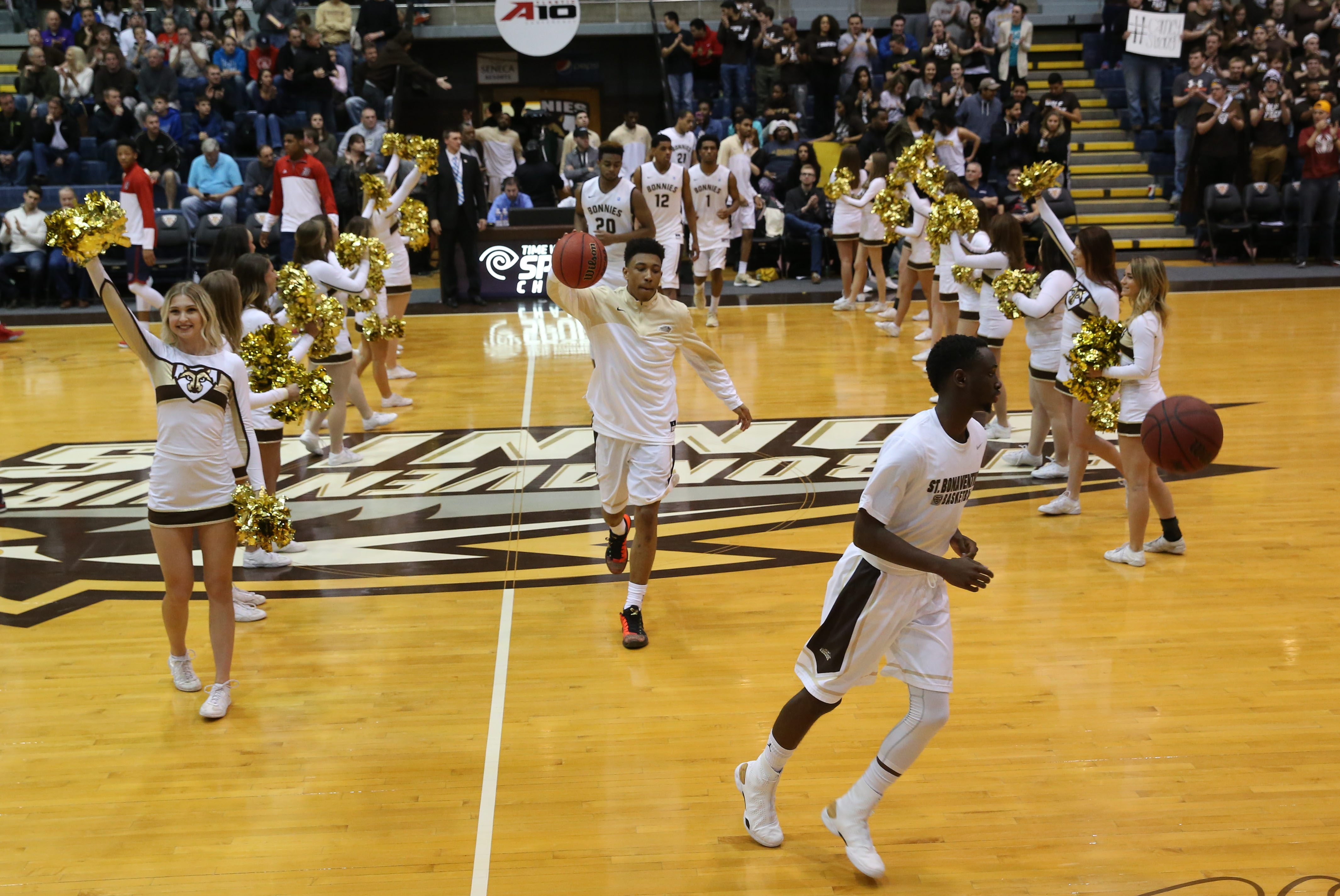A St. Bonaventure Bonnies basketball game can be an exciting experience whether or not you're a basketball fan. The energy inside the Reilly Center is infectious. (Sharon Cantillon/Buffalo News)