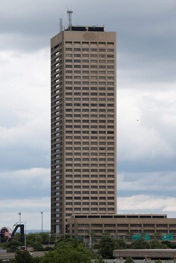 One Seneca Tower, Buffalo's tallest building, was purchased this week for a reported $12 million. (Derek Gee/Buffalo News)