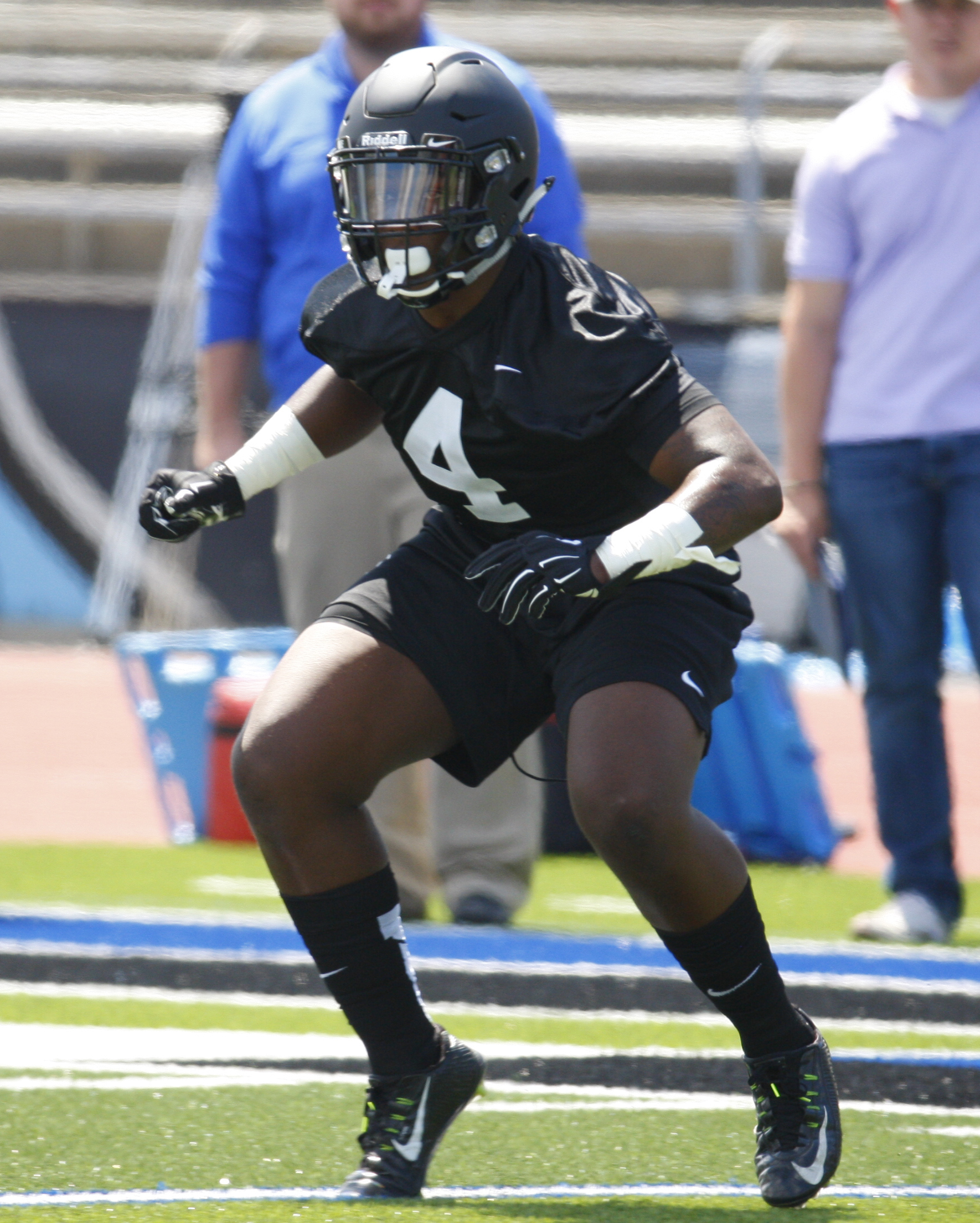 University at Buffalo player Khaalil Hodge during practice on Sunday, Aug. 7, 2016. (Harry Scull Jr./Buffalo News)