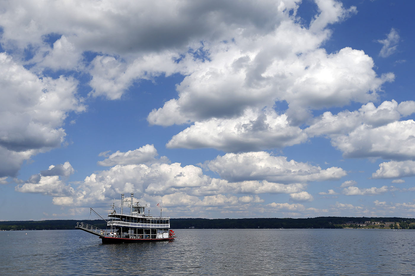 The Chautauqua Belle takes a  tour on Chautauqua Lake.       (Mark Mulville/Buffalo News)