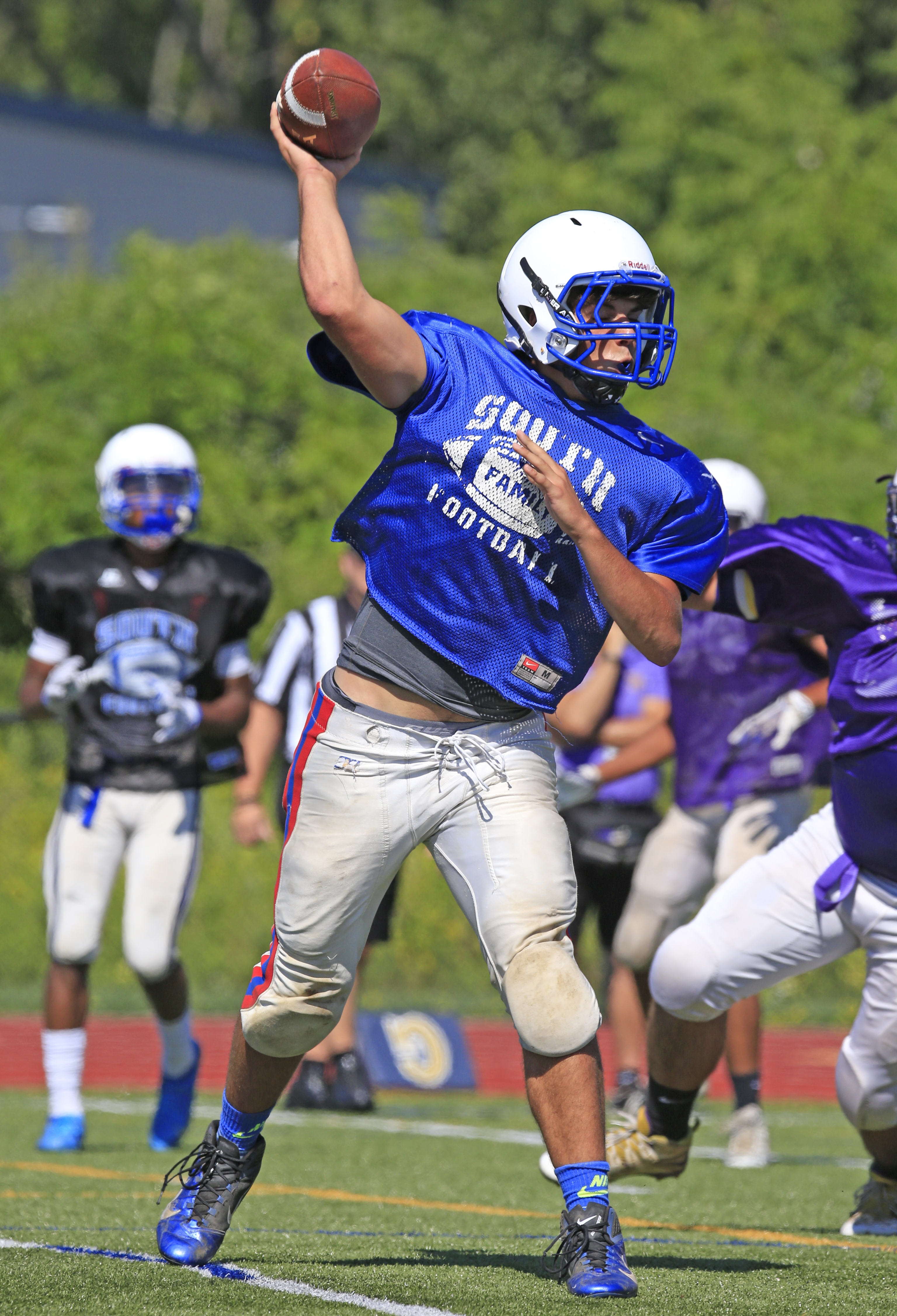 Williamsville South's Josh Foster is a good enough passer to play quarterback, and tough enough to be a linebacker on defense.