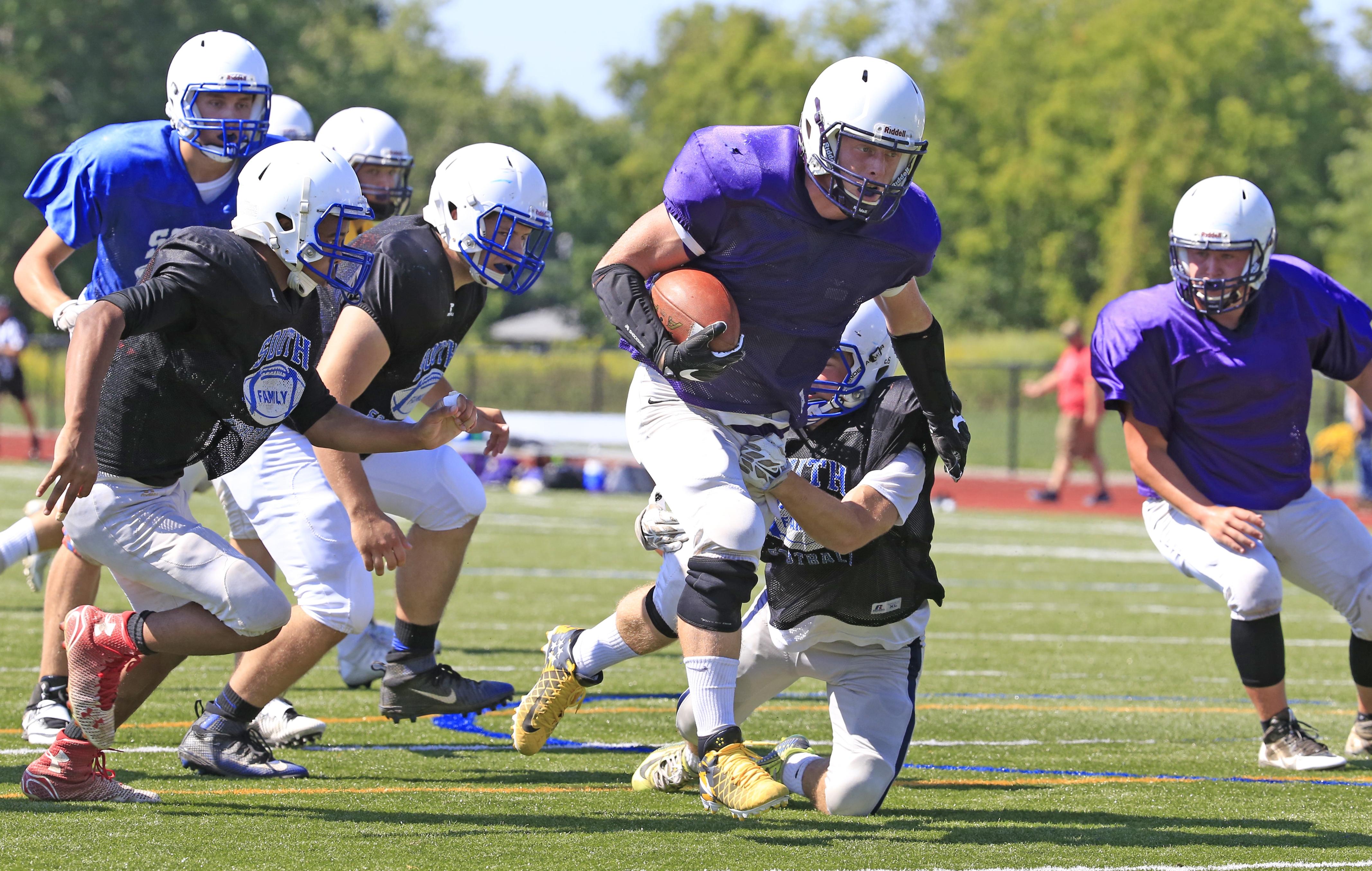 Springville's Ian Baker broke the school record for career rushing yardage. (Harry Scull Jr./Buffalo News)