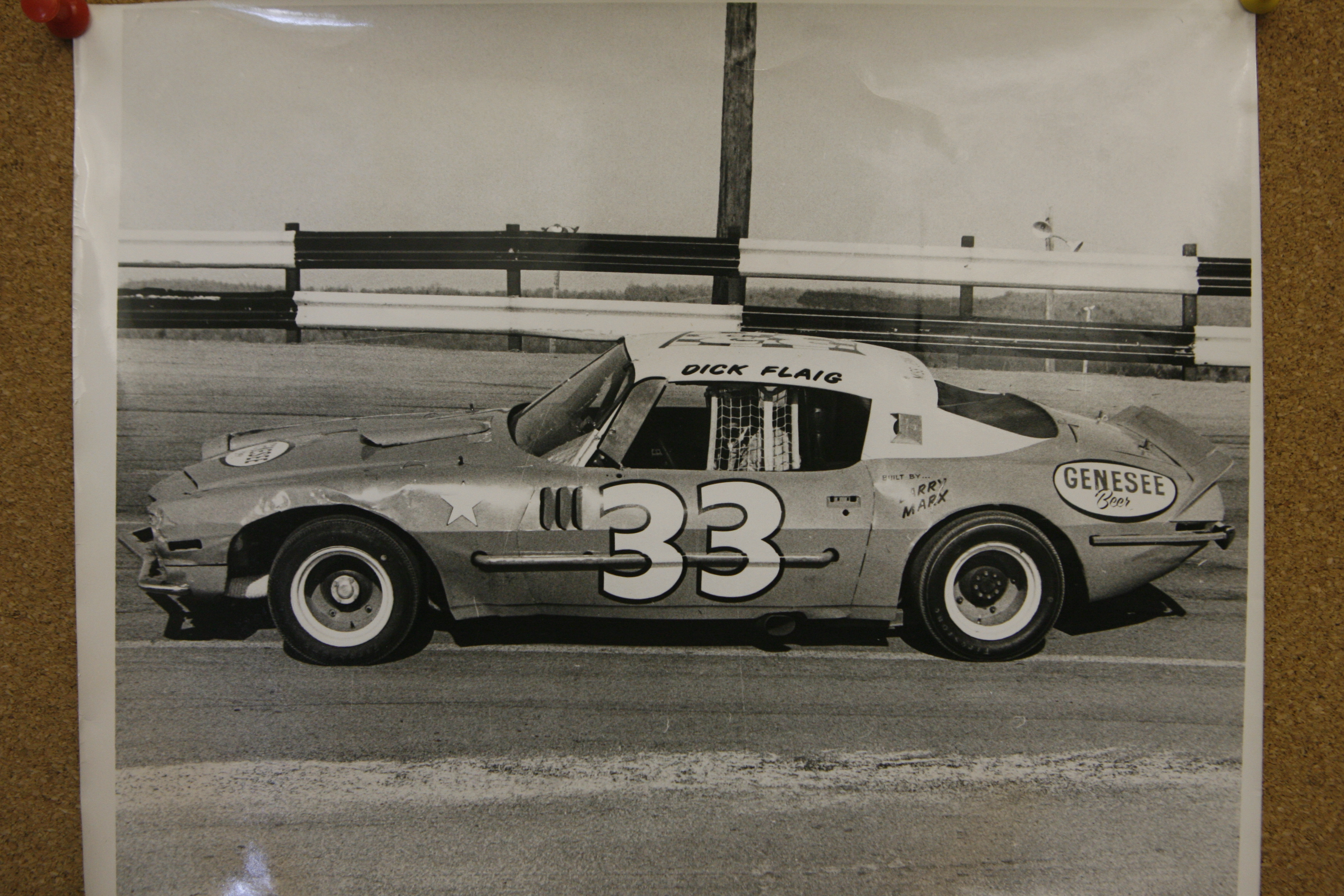 Diclk Flaig's No. 33 was a common sight at Holland Speedway.  (H/O Photo  / Buffalo News)