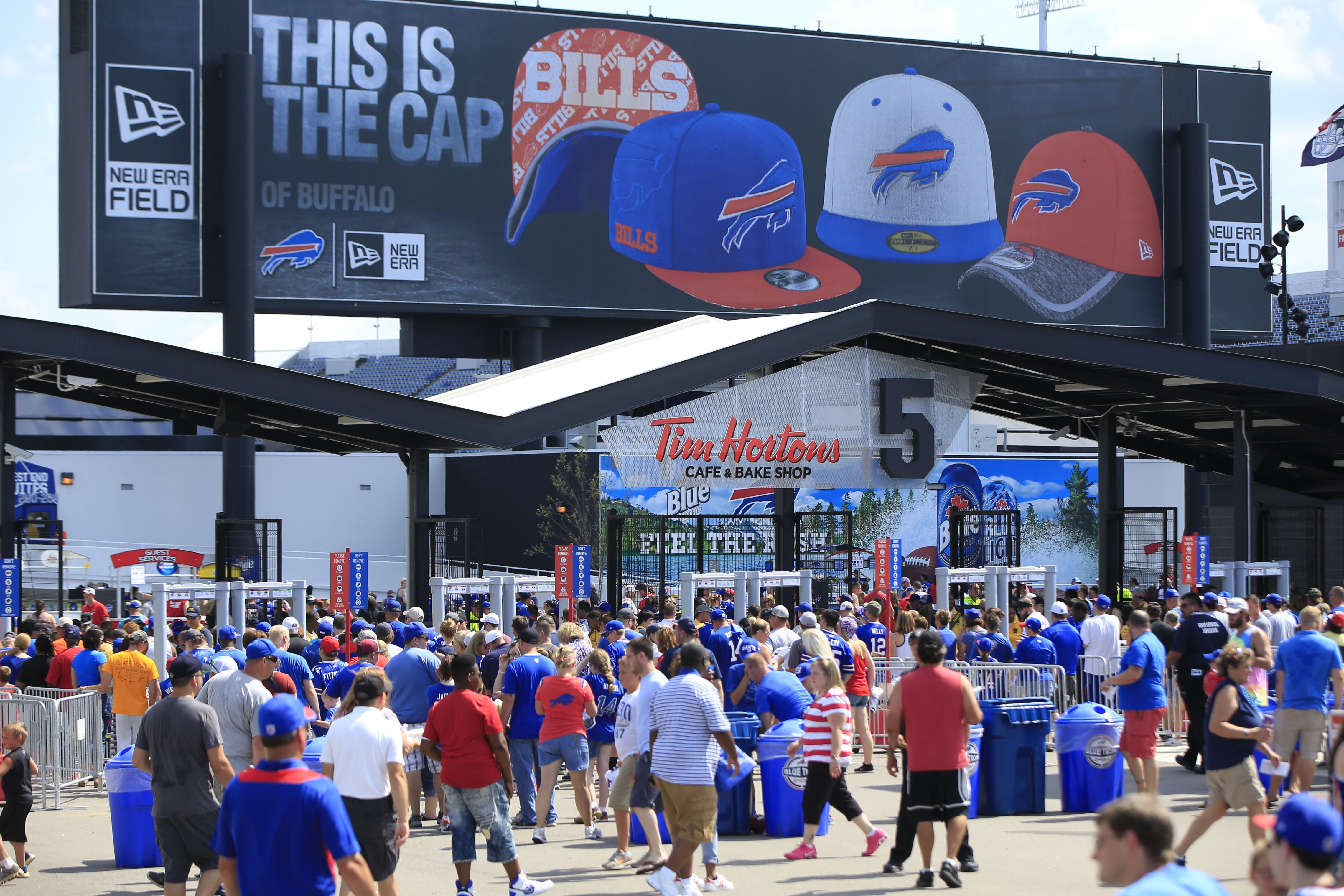 The Buffalo Bills and New York Giants enter newly-named New Era Field Saturday.