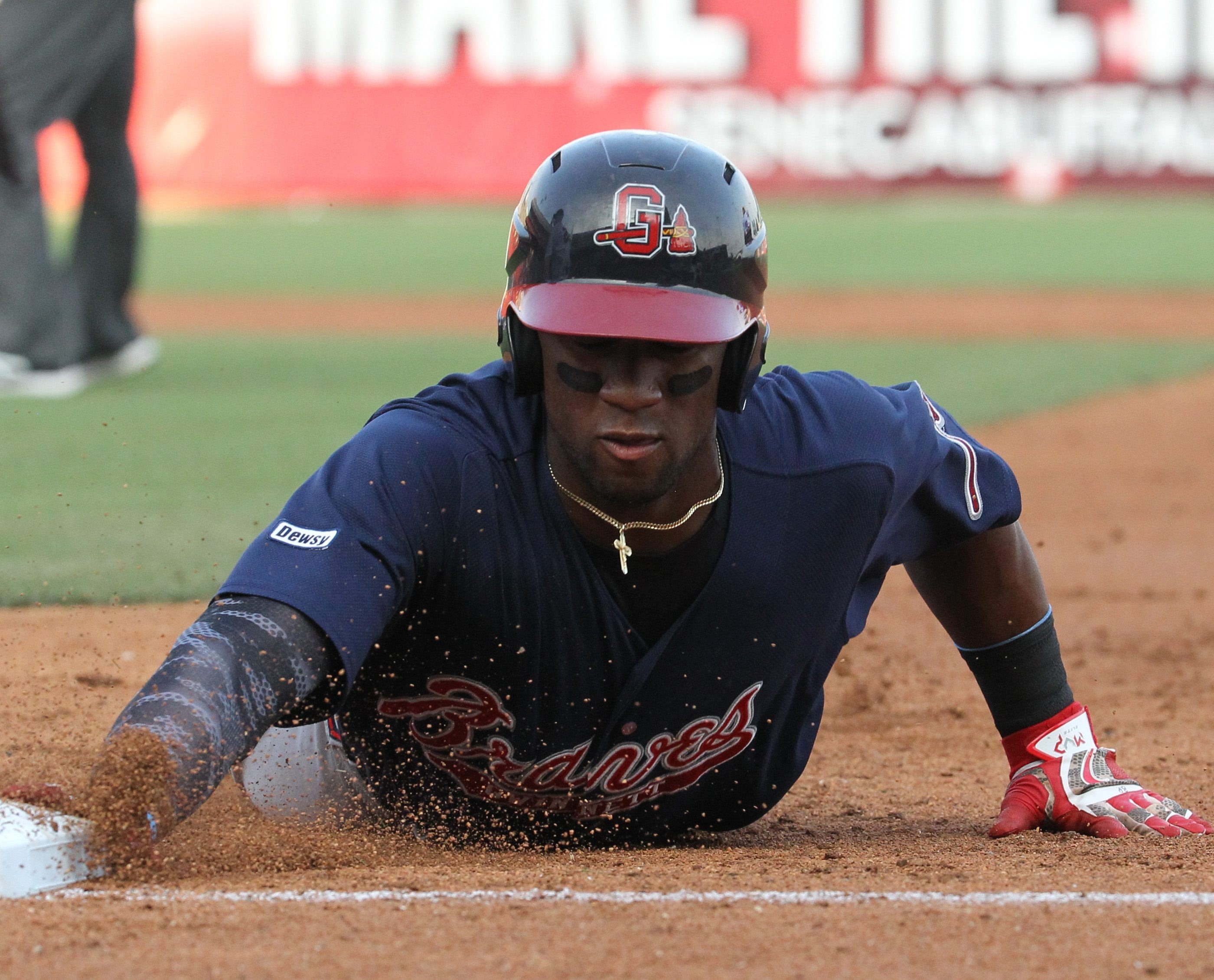 Mel Rojas Jr. and the Gwinnett Braves are well under .500, but they lead the International League South.