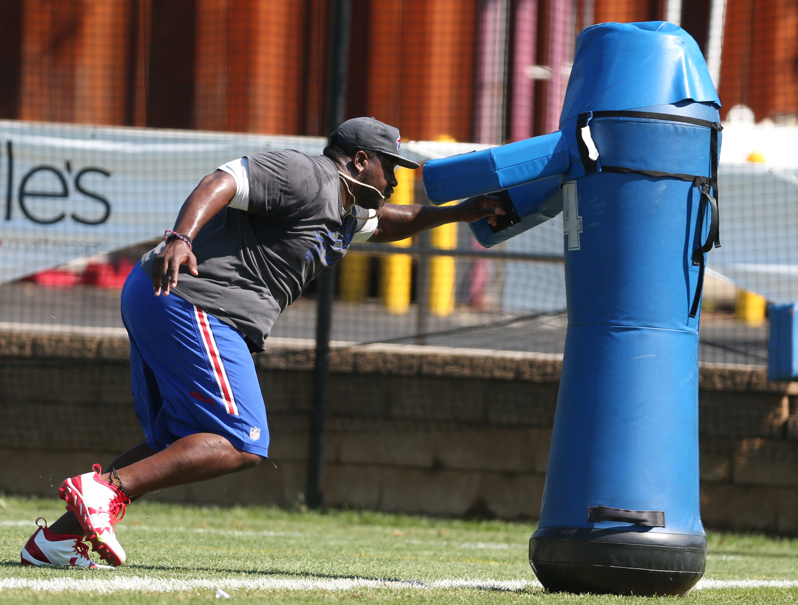 Defensive tackle Marcell Dareus could start practicing with the rest of the Bills in the near future but, in the meantime, he's still working out.