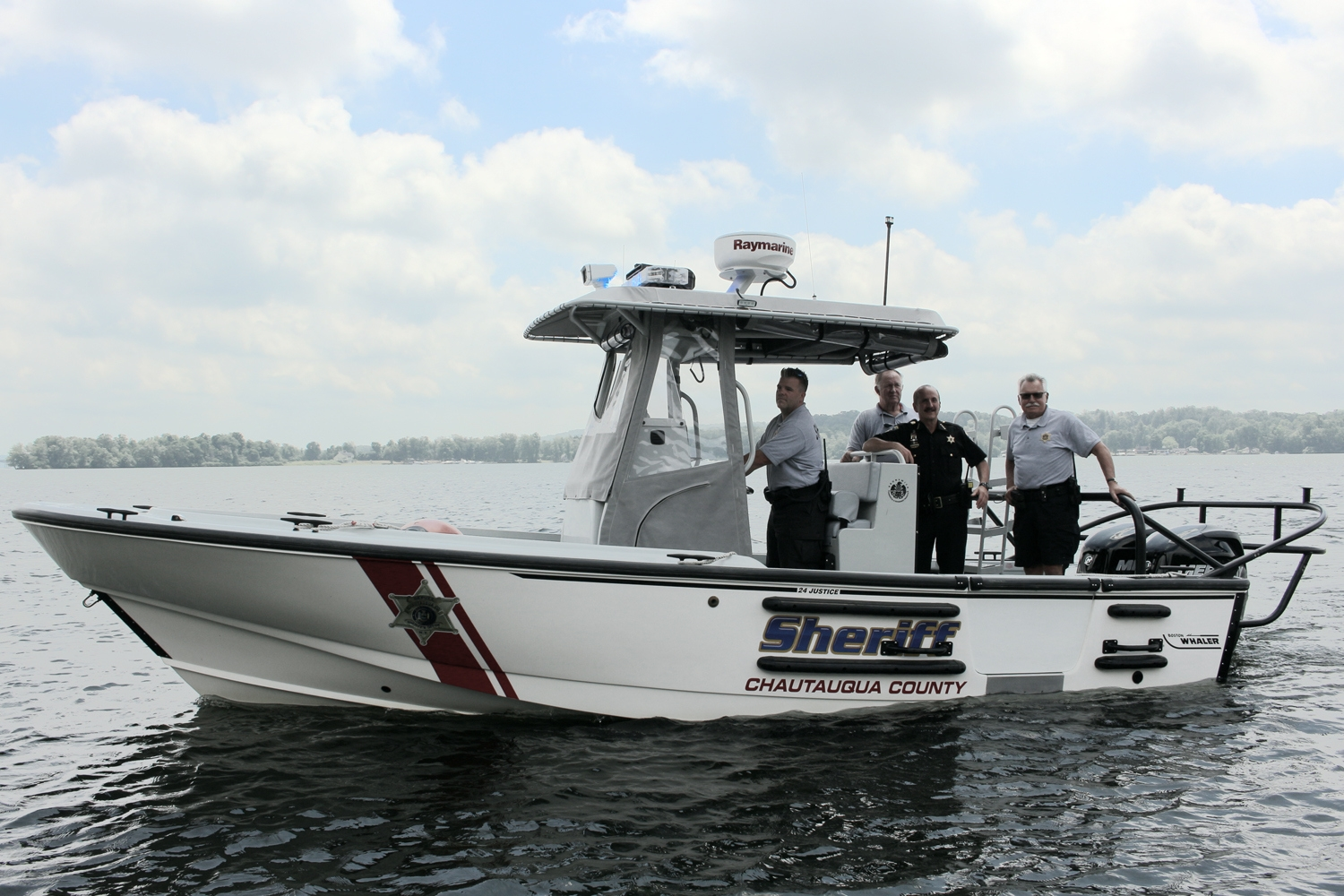 The Chautauqua County Sheriff's office received a new patrol vessel from the state Department of Parks, Recreation and Historic Preservation. (Photo courtesy of the Chautauqua County Sheriff's Office)