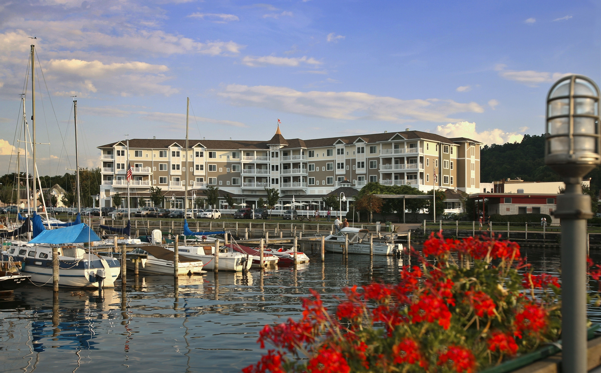 The Watkins Glen Harbor Hotel topped the list of 10 Best Waterfront Hotels in America in a 2016 rating by USA Today readers.