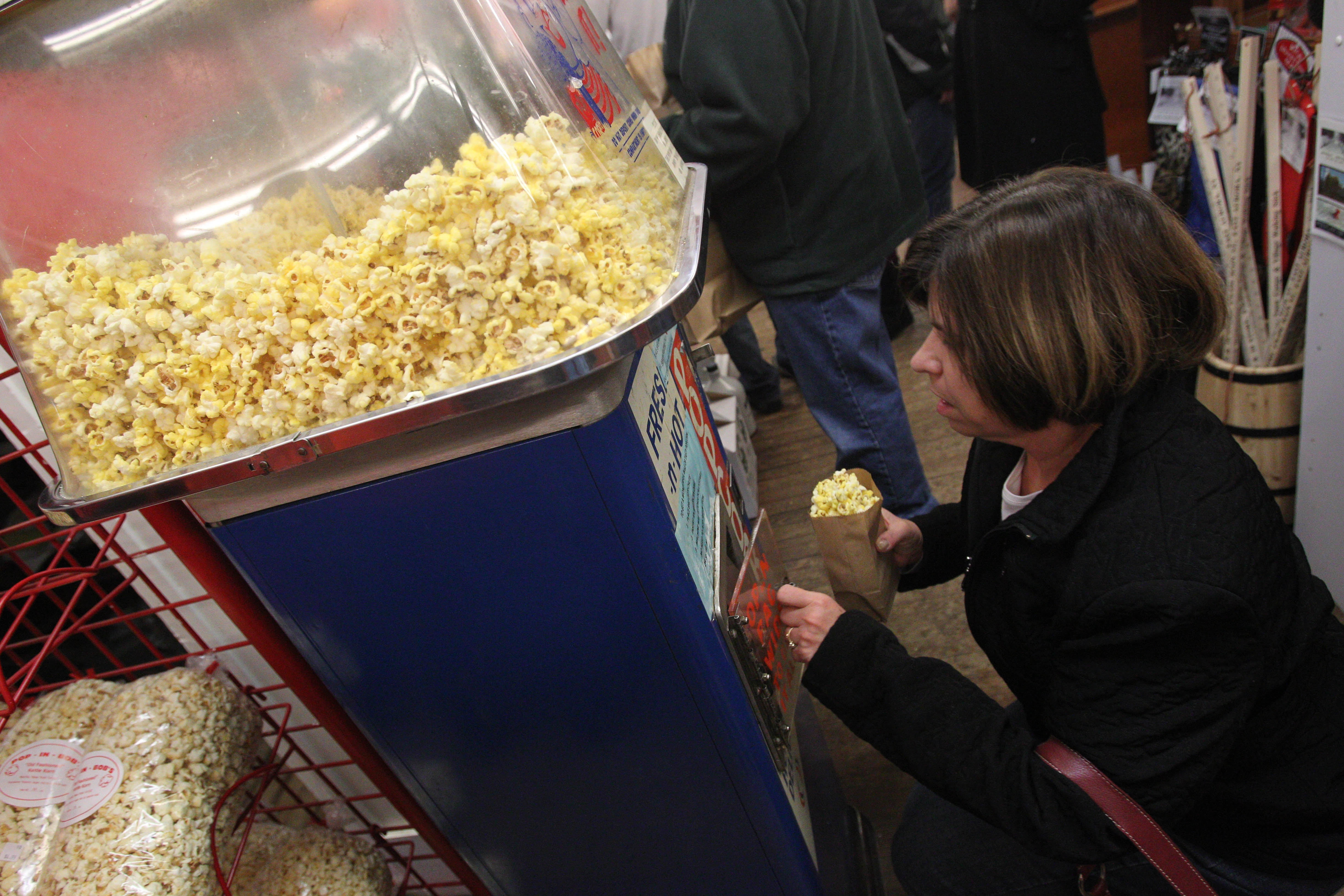 The popcorn machine at Vidler's, shown here in 2012, is up and popping again. (Photo by Sharon Cantillon / Buffalo News)