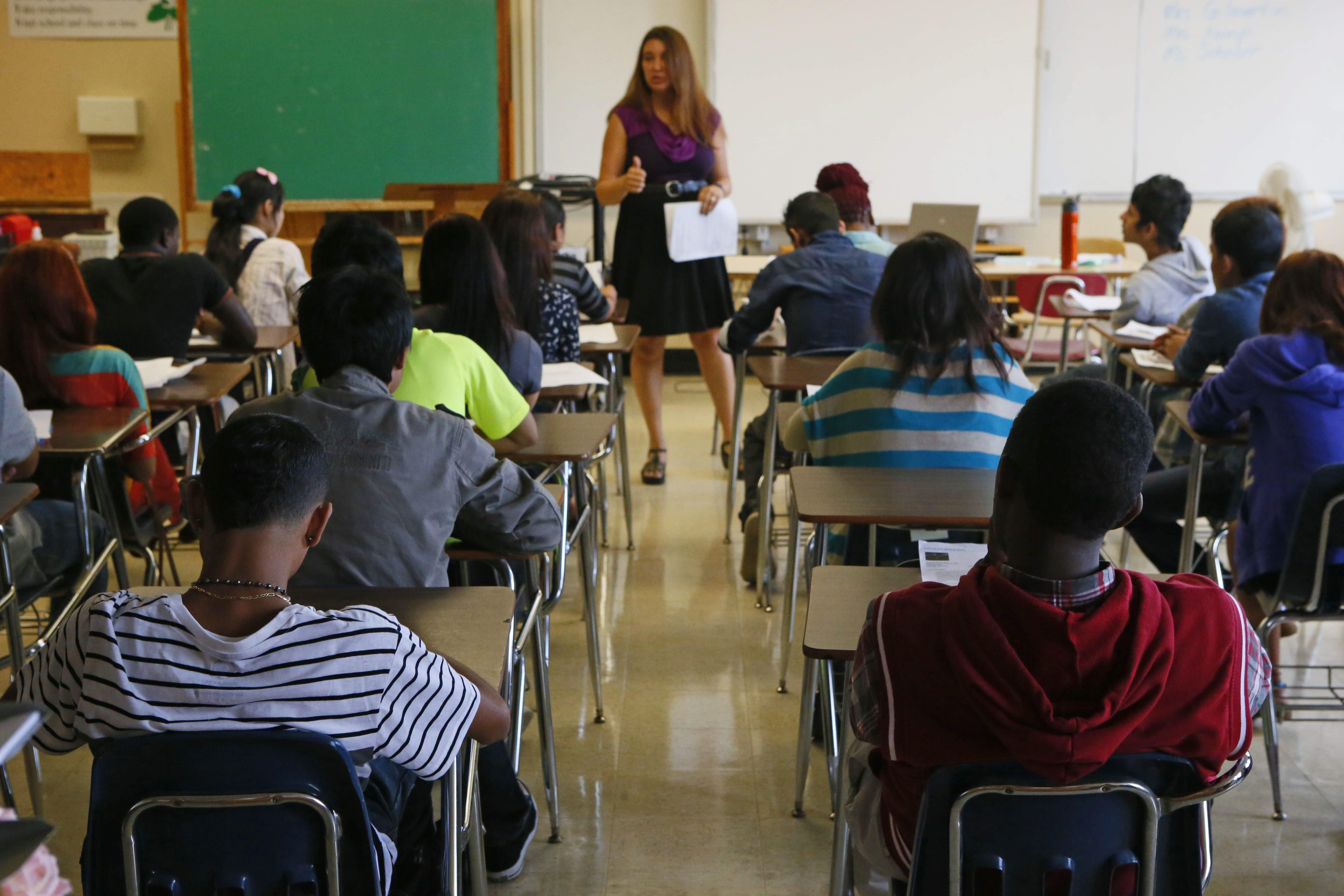 Students in a class at Lafayette High School, Thursday, Sept. 5, 2013.  (Derek Gee/Buffalo News)