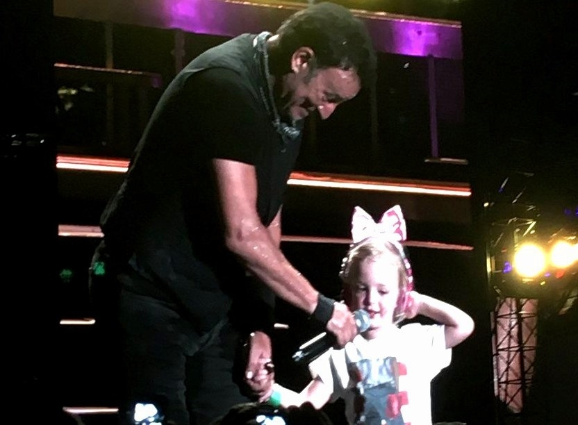 3-year-old Emily Ross of Lancaster sings her favorite 'Waiting for a Sunny Day' at Met Life Stadium. (Photo via Jeff Ross)