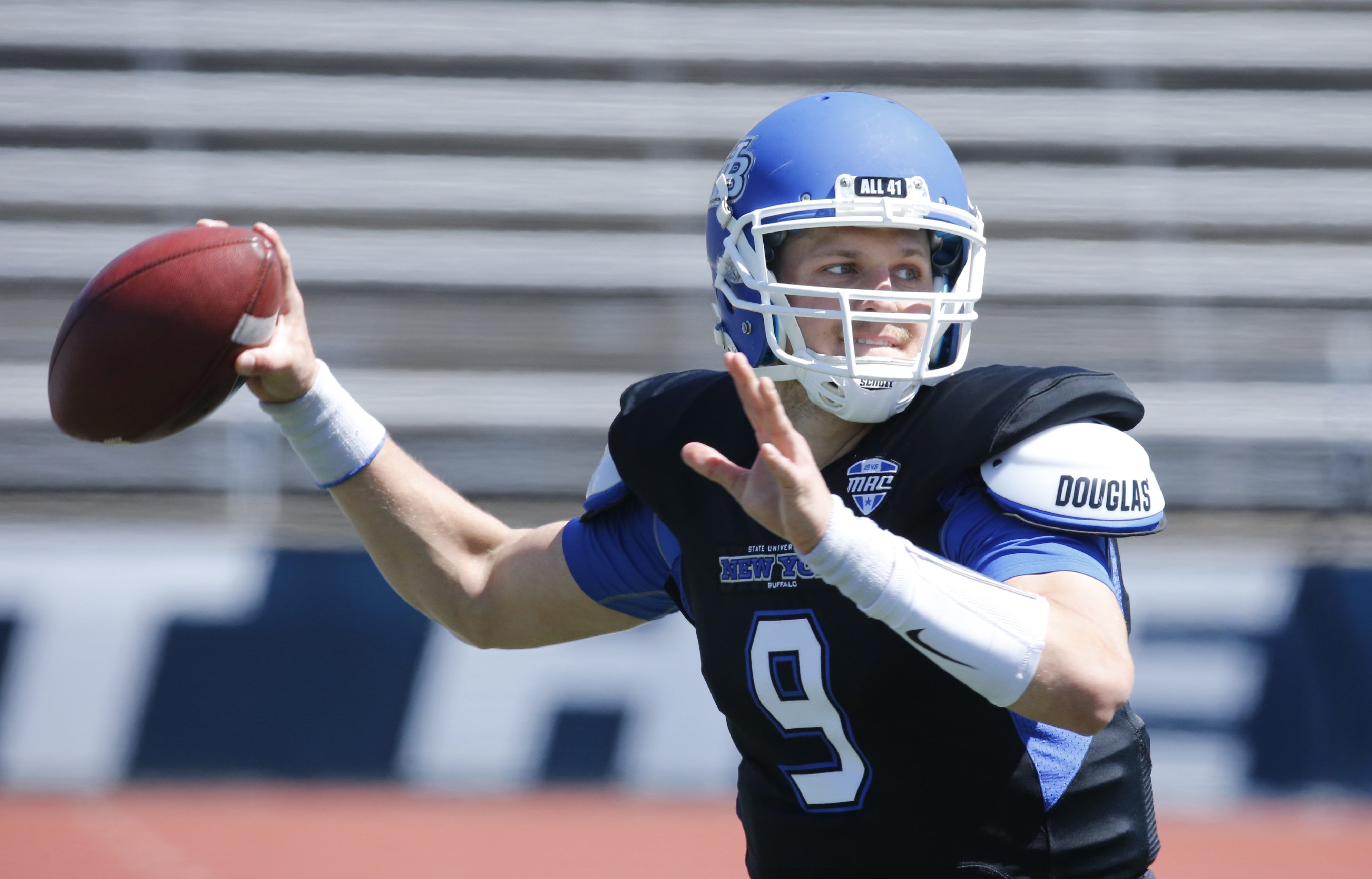 Grant Rohach during the Blue & White Scrimmage this spring.