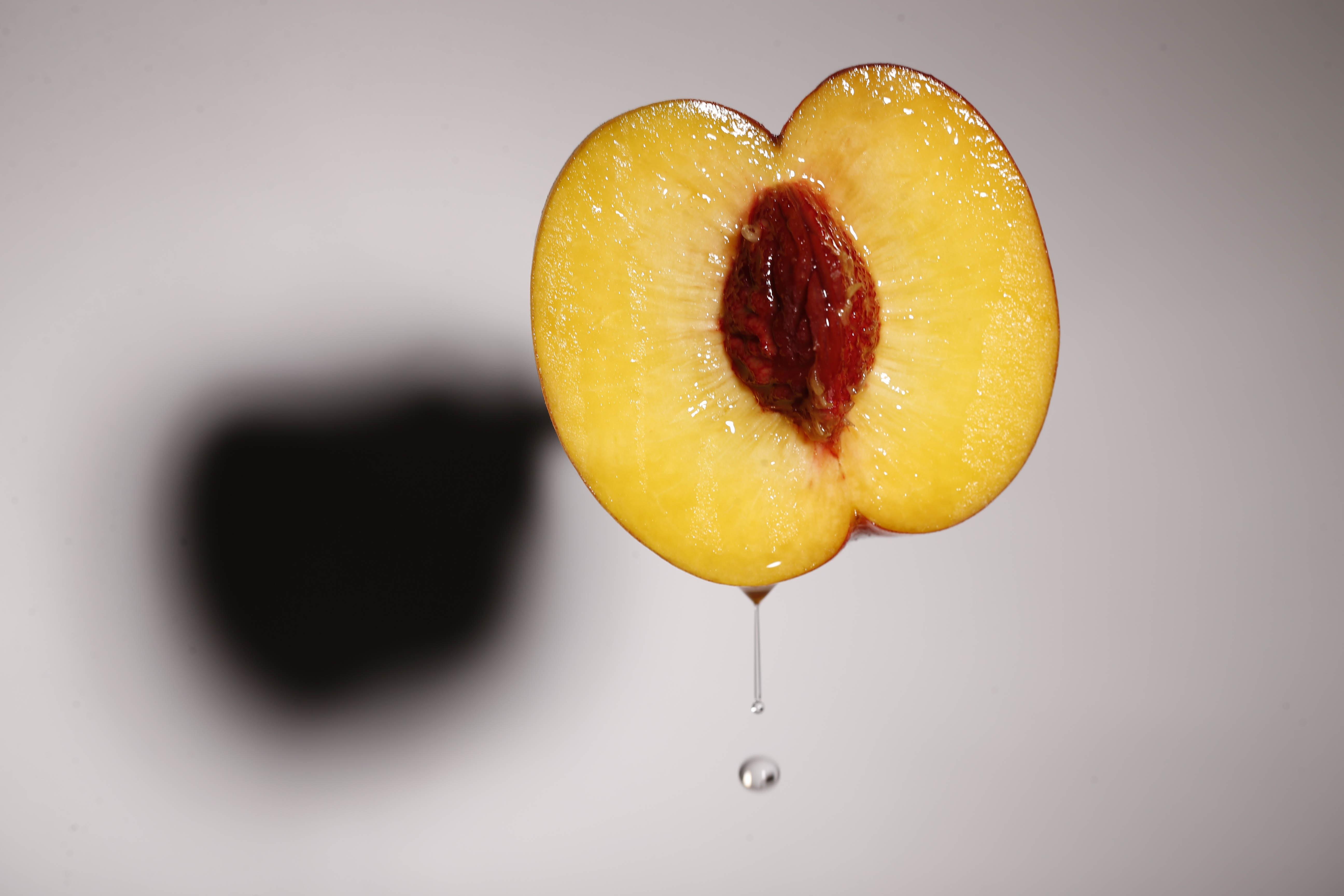 A fresh peach, Friday, Aug. 19, 2016.  (Derek Gee/Buffalo News)
