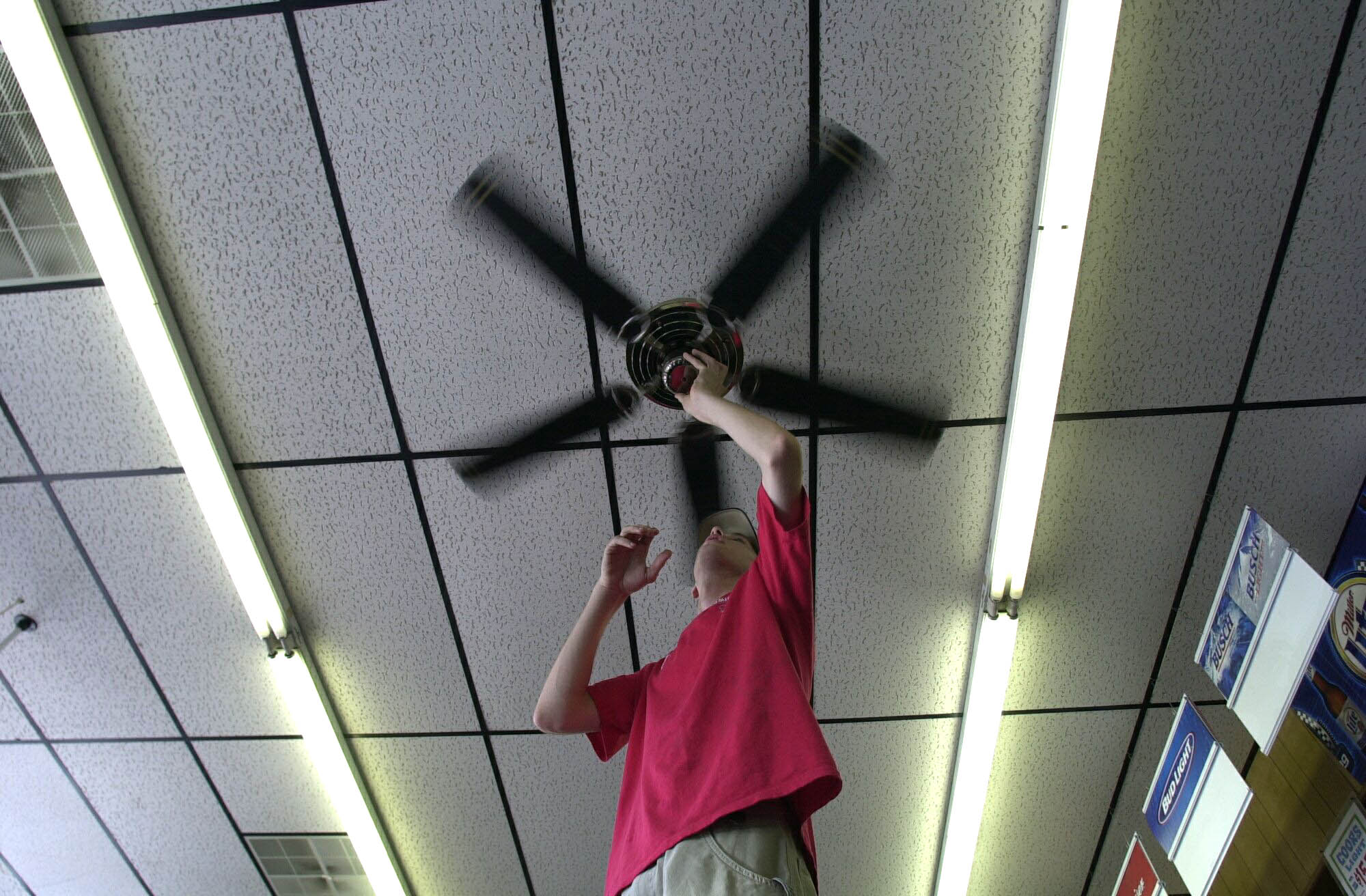 Ceiling fans help cool people, but not rooms, so turn them off when you leave.  (Robert Kirkham/News file photo)