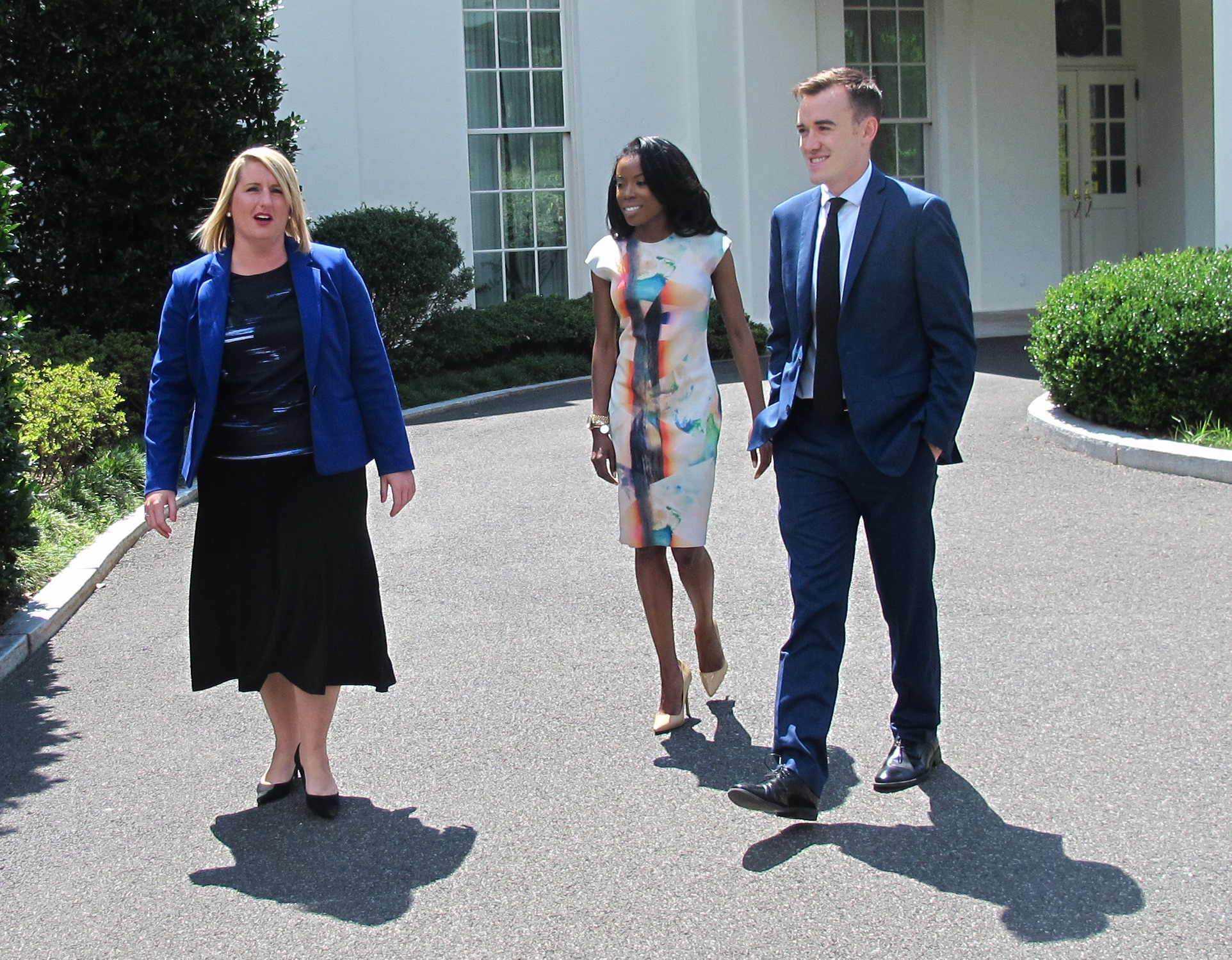 Elizabeth Allen, Desiree Barnes and Greg Degen are three of the five Buffalo-area natives with prominent jobs in the Obama White House. (Jerry Zremski/Buffalo News)