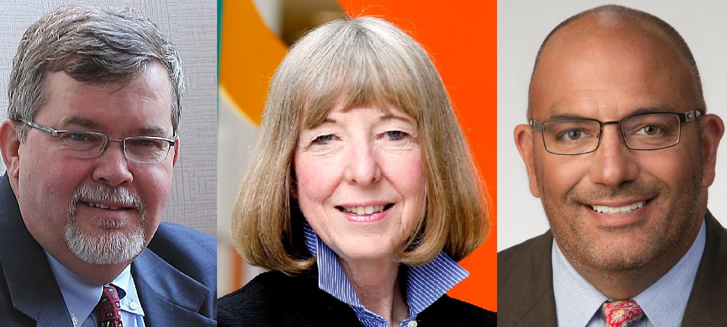 Health care executives with total compensation packages of more than $1 million are Joseph D. McDonald, left, of Catholic Health System; Candace S. Johnseon of Roswell park Cancer Institute and Jody L. Lomeo of Kaleida Health.