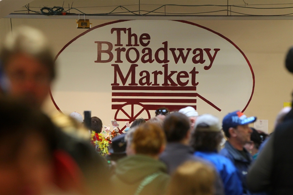 The City of Buffalo would like to draw crowds to the Broadway Market all year round, not just at Easter. (Mark Mulville/Buffalo News file photo)