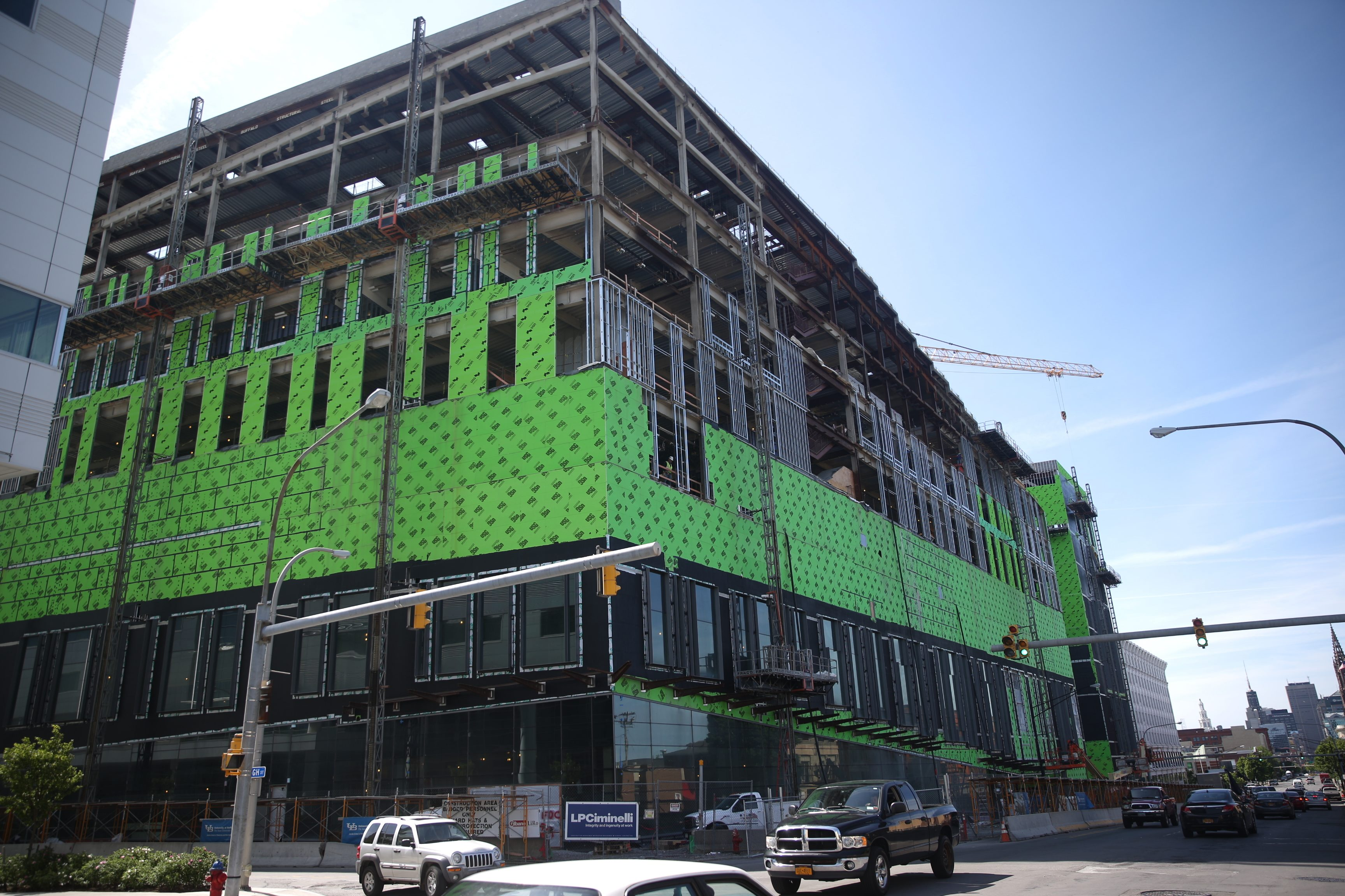 Work continues at the UB Jacobs School of Medicine and Biomedical Sciences in Buffalo, N.Y., on Friday, June 10, 2016. (John Hickey/Buffalo News)