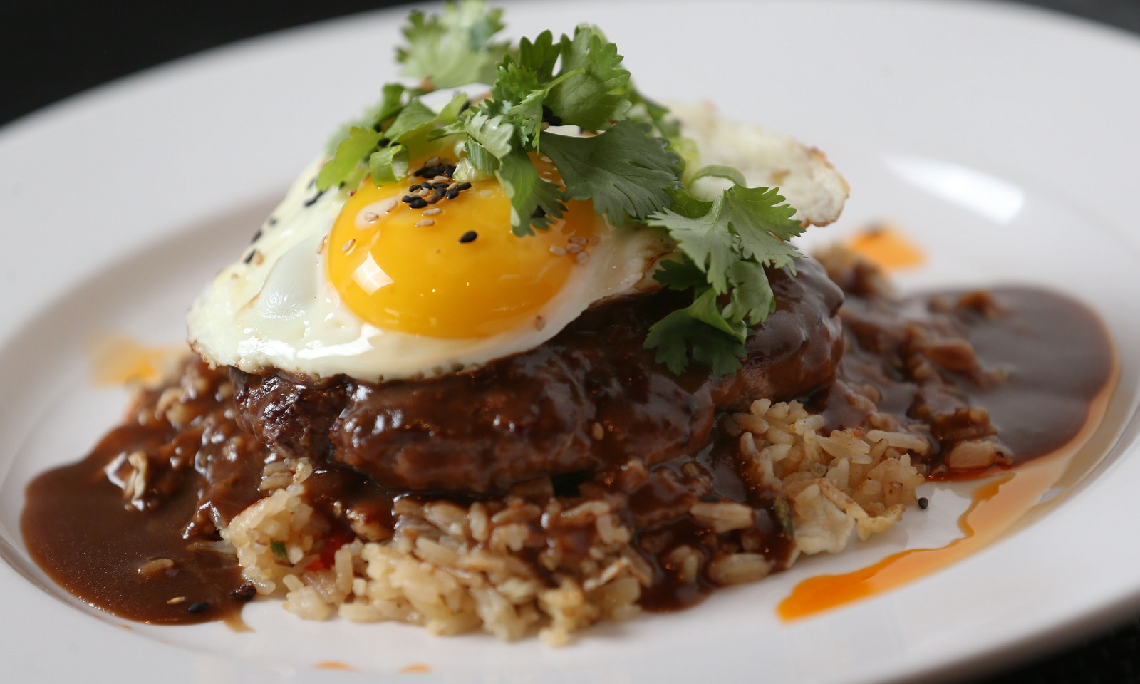Seabar's Loco moco may not have a bun, but it's still quite hardy. (Sharon Cantillon/Buffalo News)