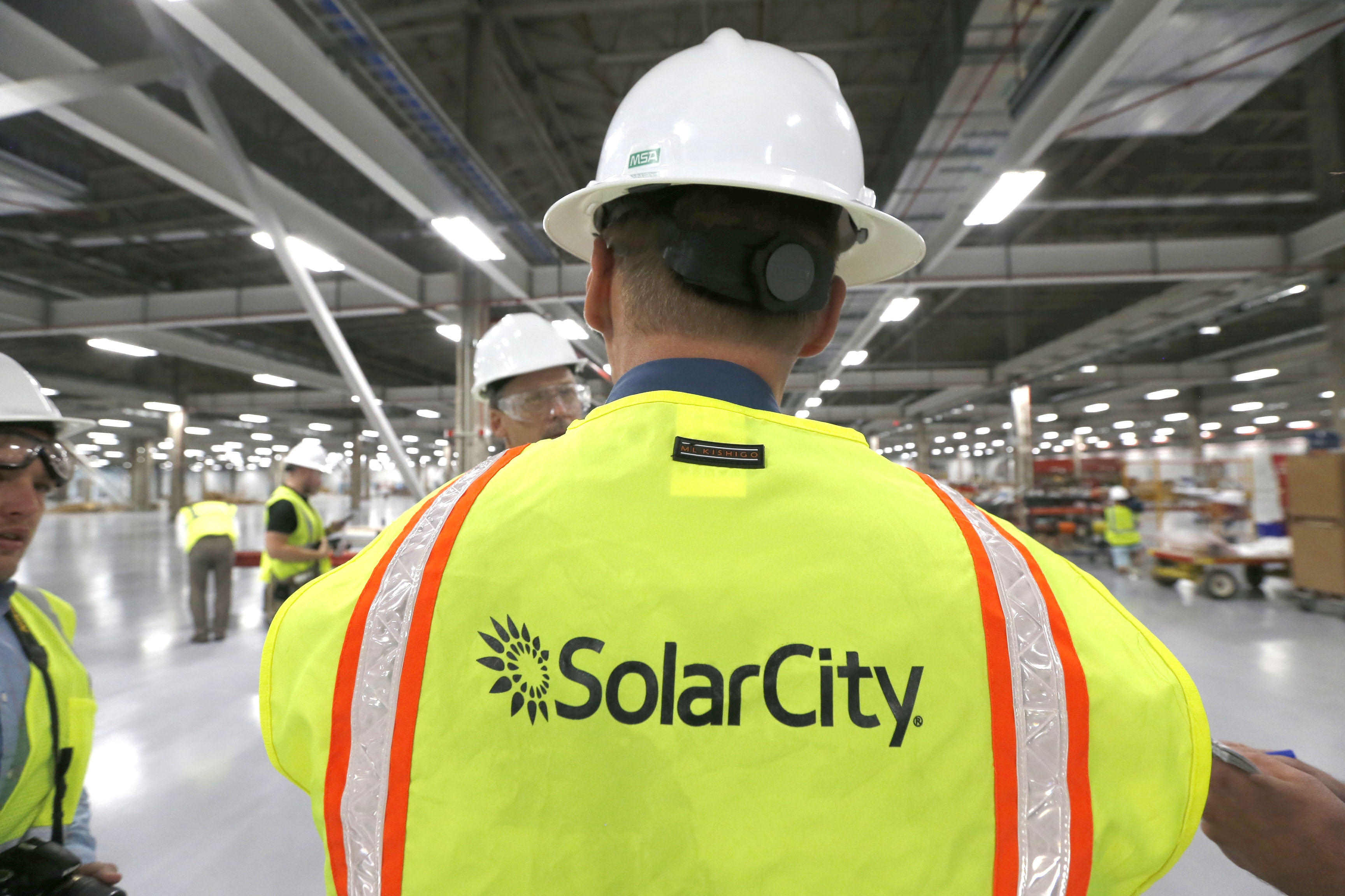 SolarCity's plant at RiverBend in South Buffalo began initial production this month. (Robert Kirkham/Buffalo News file photo)