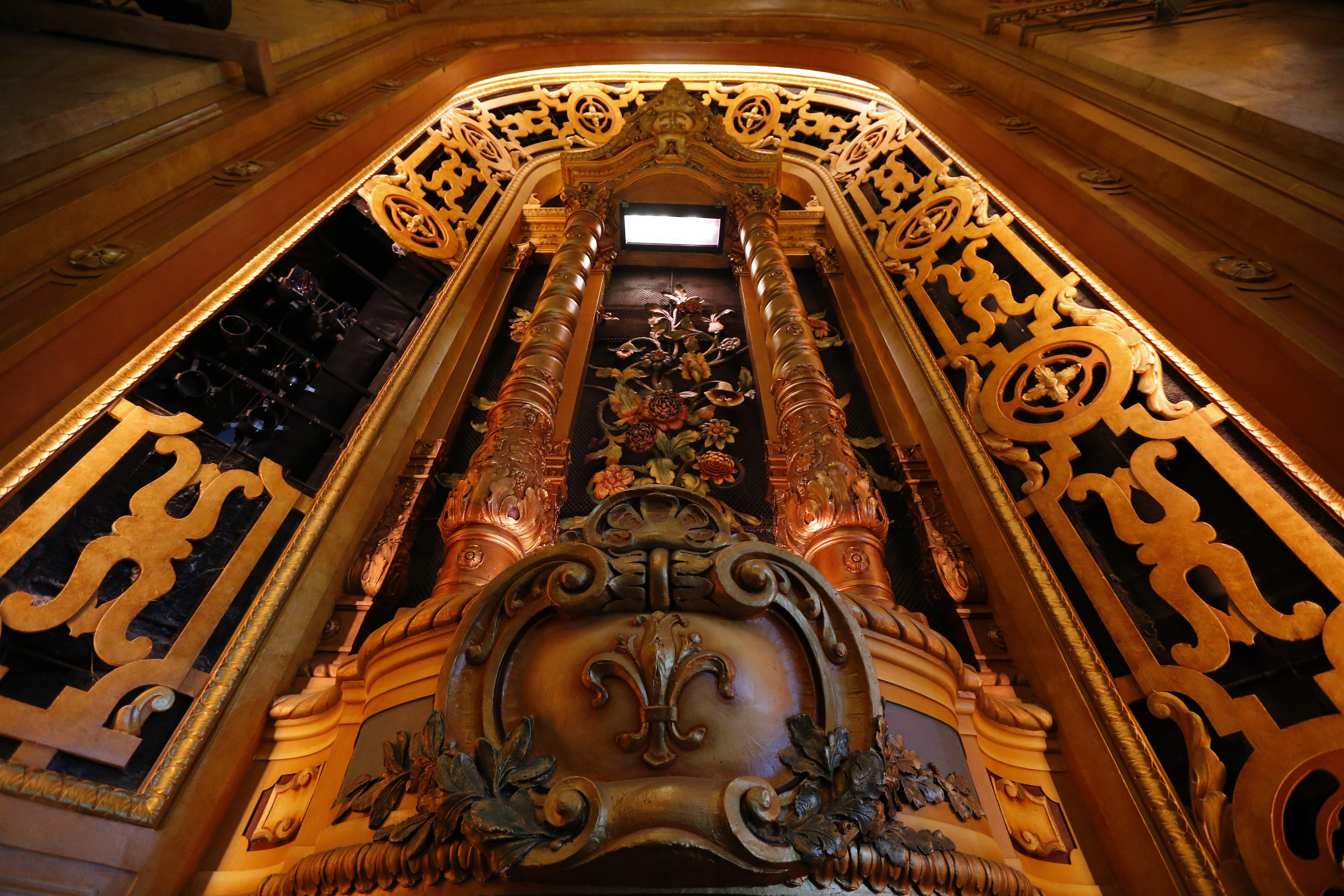 Pictures, A restored private balcony on the side of the stage at the Shea's Buffalo Theatre Tuesday, September 13, 2016. (Mark Mulville/Buffalo News)