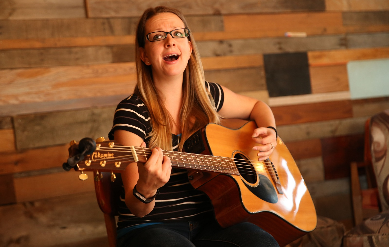 MaryBeth King performs her folky acoustic Americana. She plays from 12:30-1:30, the first, third and fifth Thursday of the month. (Sharon Cantillon/Buffalo News)