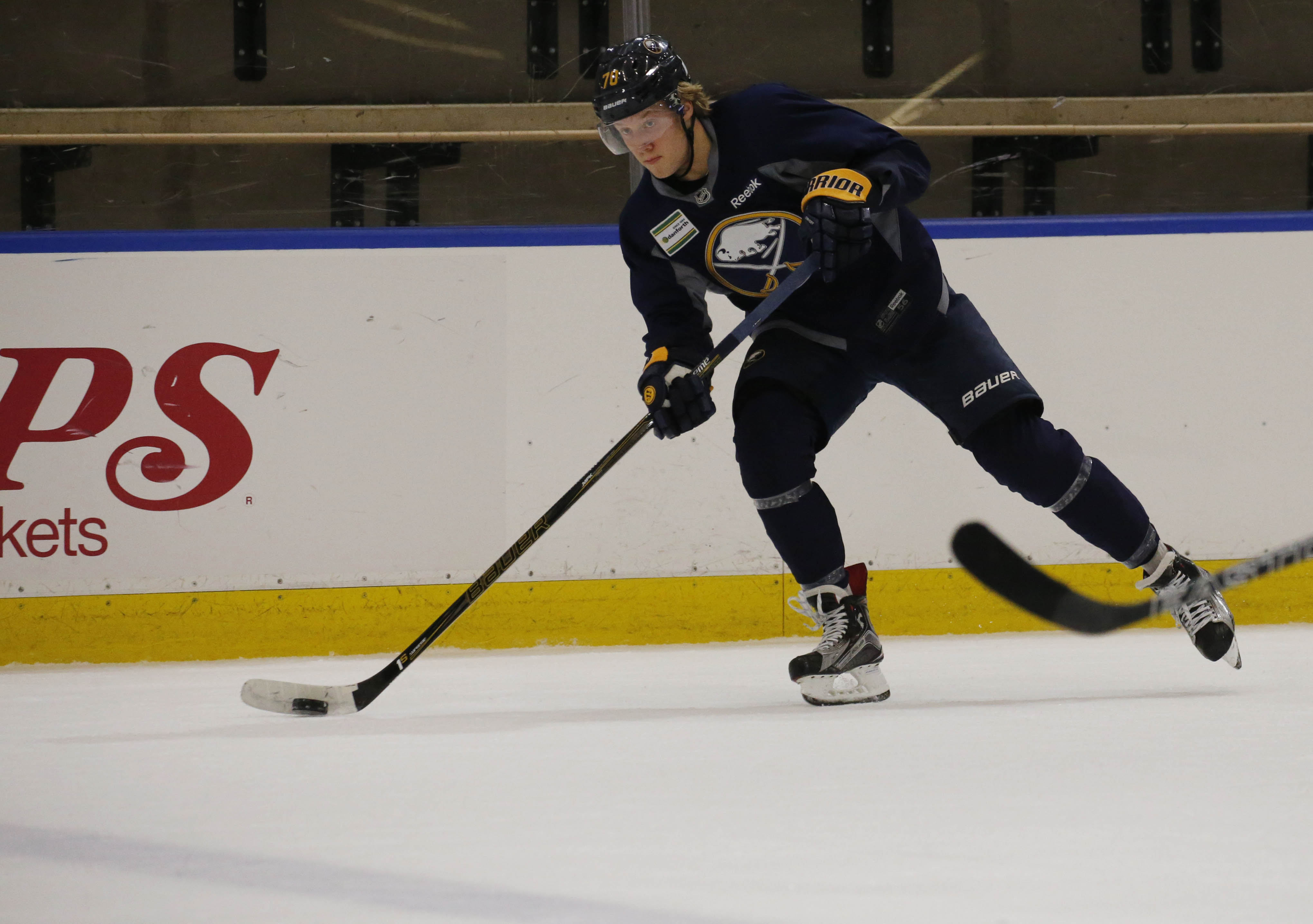 Alexander Nylander needs to adjust to the pace of the NHL game.  (Derek Gee/Buffalo News)
