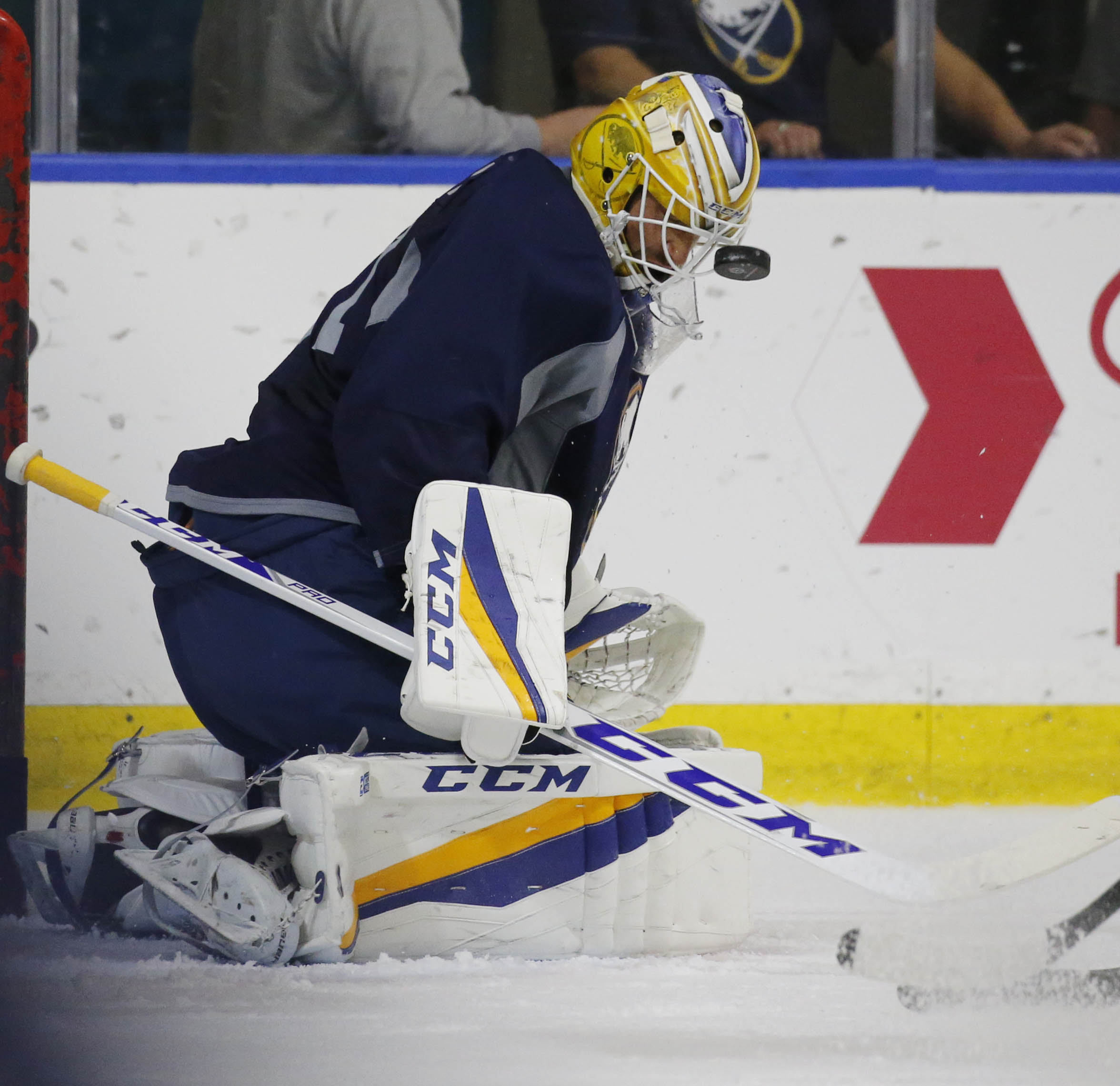 Anders Nilsson had a strong first day of Sabres training camp.
