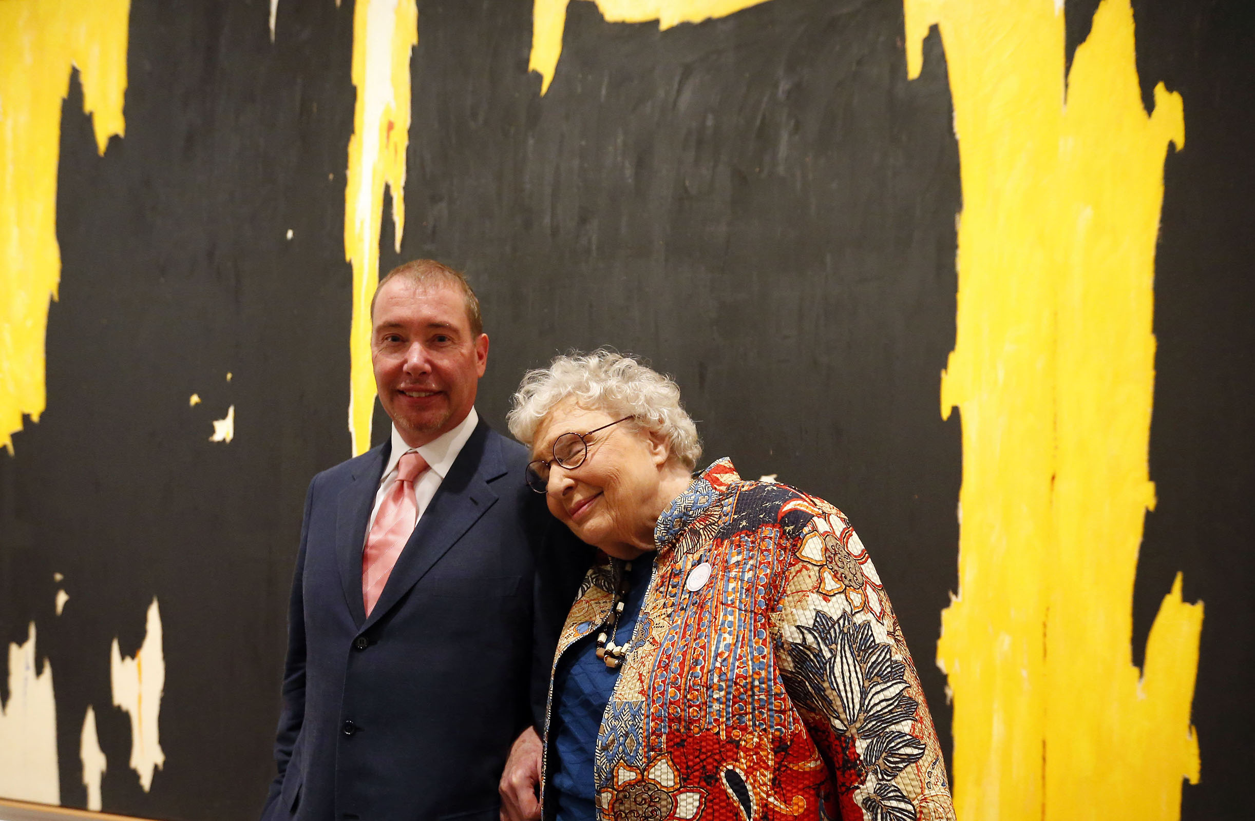Jeffery Gundlach with his mother at the Albright Knox Art Gallery in Buffalo Friday, Sept. 23, 2016. (Mark Mulville/Buffalo News)