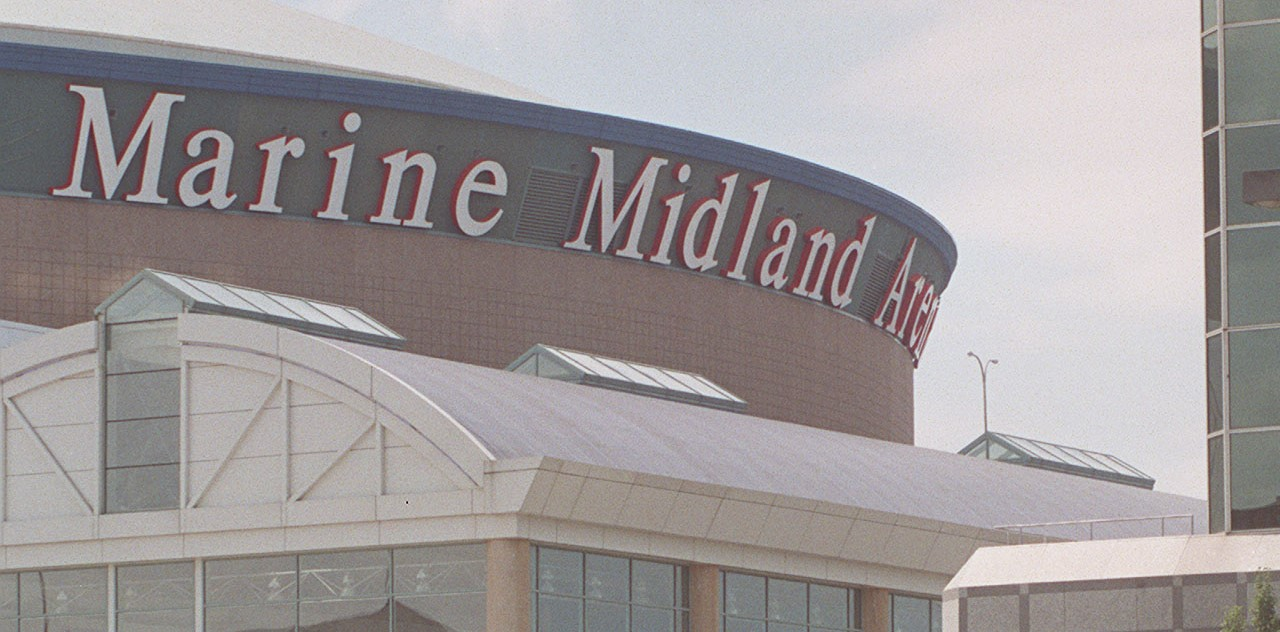 Marine Midland Arena, the original name of the downtown arena. (News file photo)