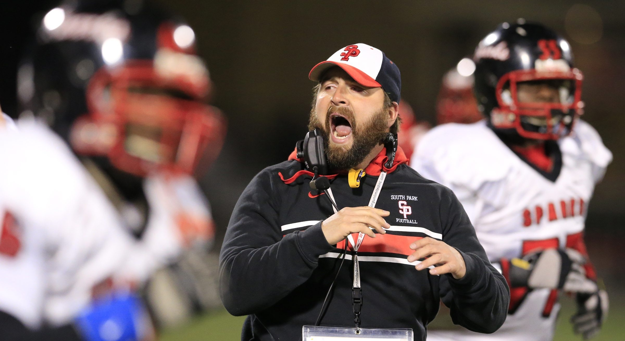 Coach Tim Delaney and the South Park Sparks had plenty to get excited about last season as they captured their first state title en route to earning the No. 1 ranking in Class A. (Harry Scull Jr./Buffalo News)