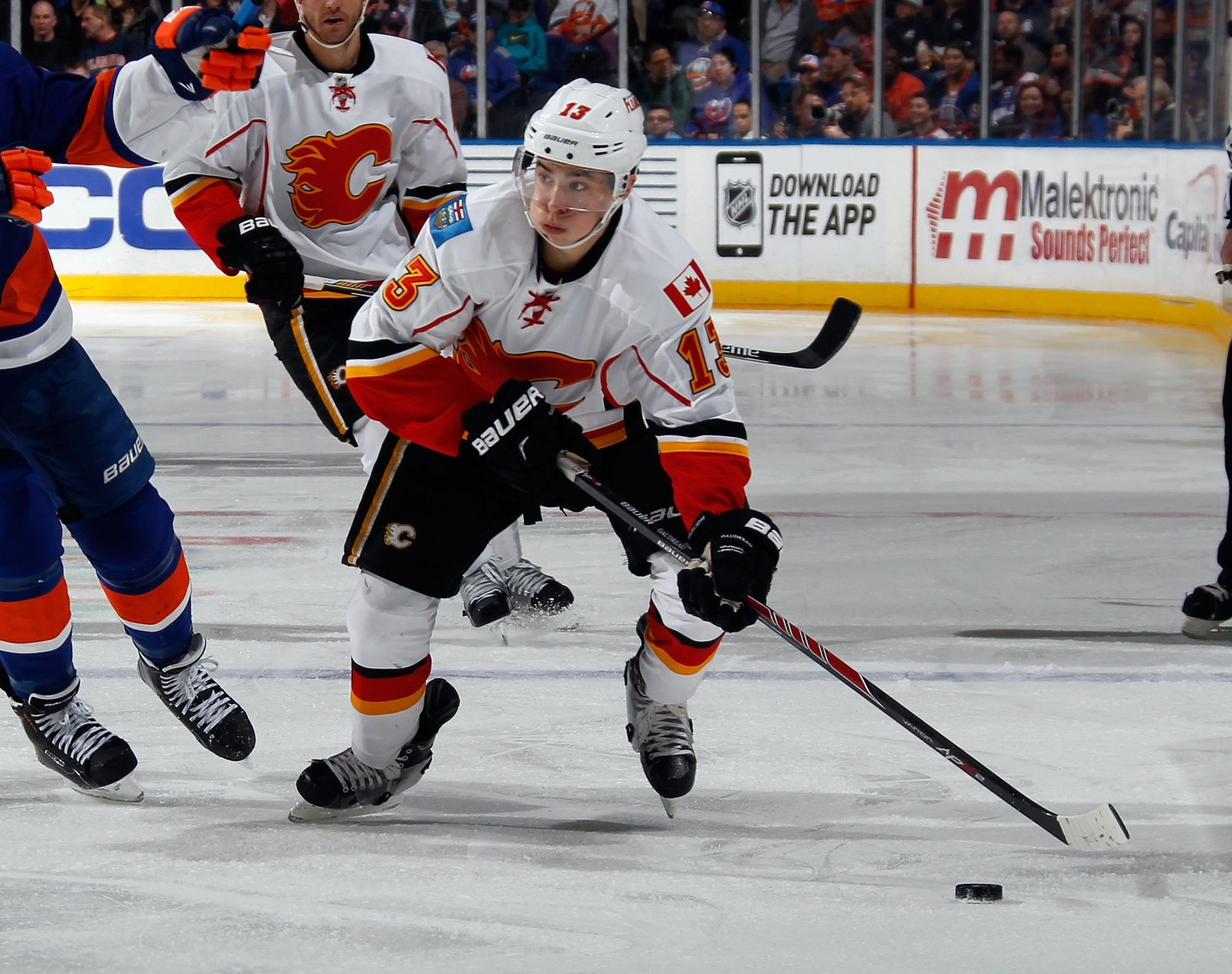 Forward Johnny Gaudreau of the Calgary Flames won the Hobey Baker Award as the best college hockey player in 2014.