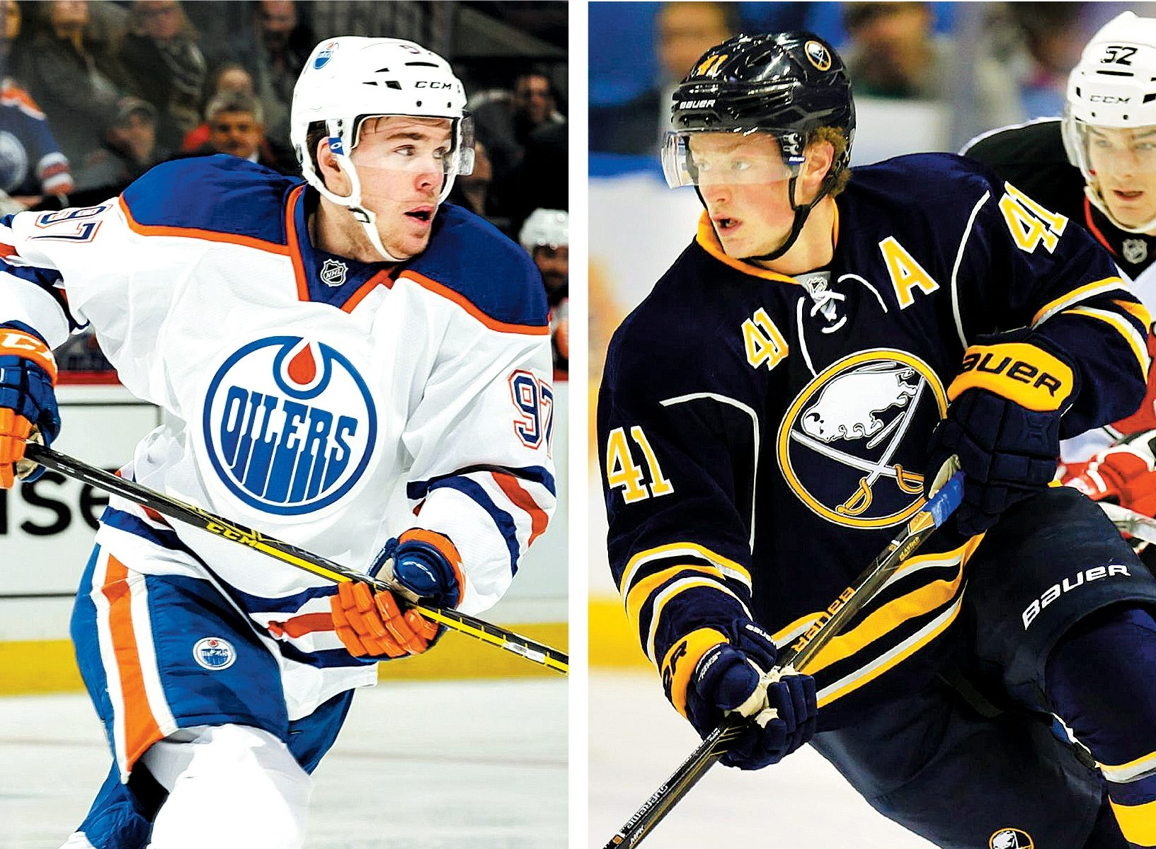 Connor McDavid and Jack Eichel were on the same power-play unit during Tuesday's North America practice in Montreal.