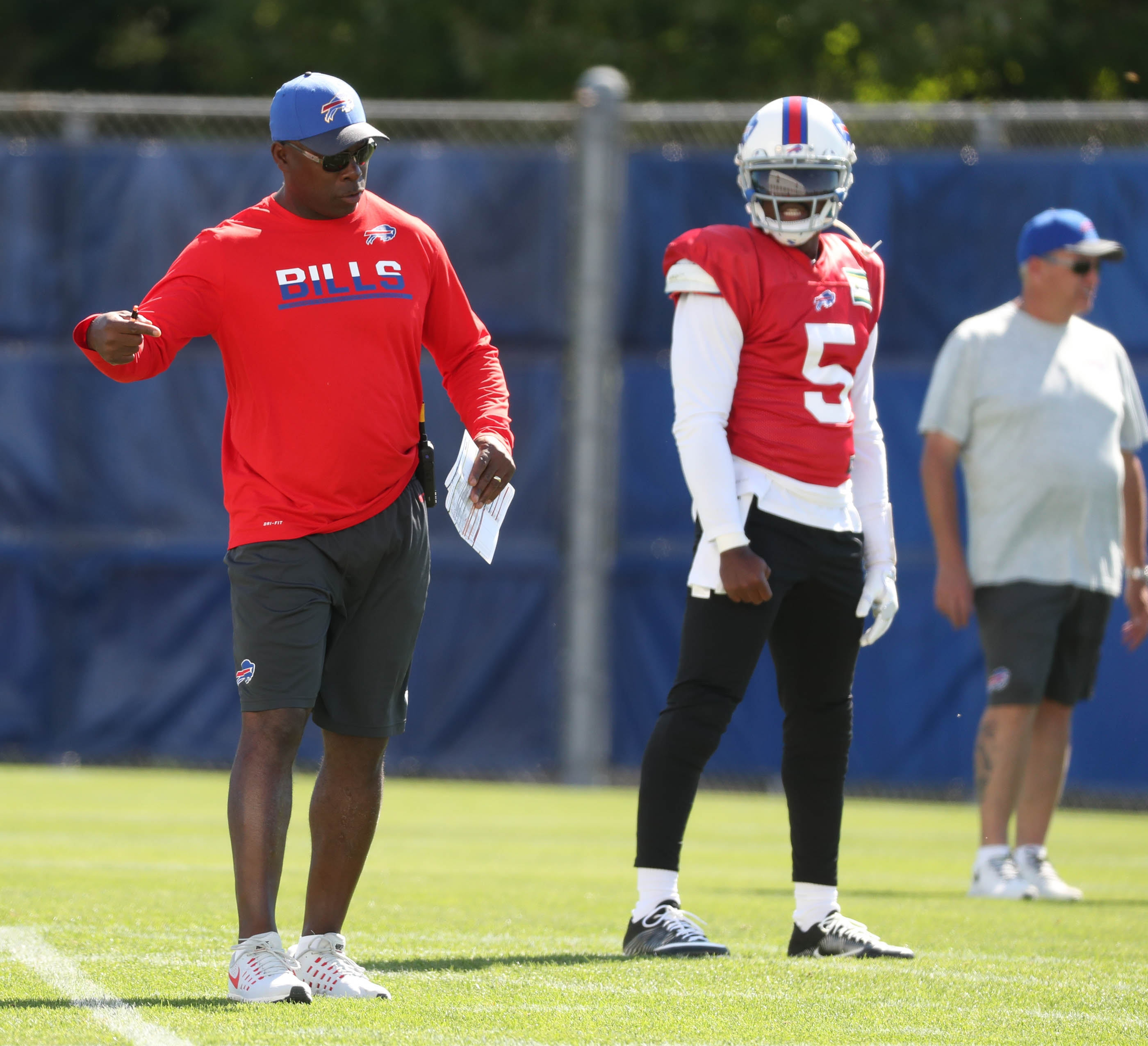 New offensive coordinator Anthony Lynn takes over under challenging circumstances. (James P. McCoy/Buffalo News)