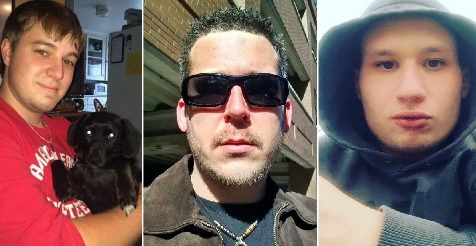 Bobby Nunzio Giovino, left, and Michael Fuglewicz, center, both died of fentanyl overdoses, while Mark Jack died of a heroin overdose after previously surving a fentanyl overdose.